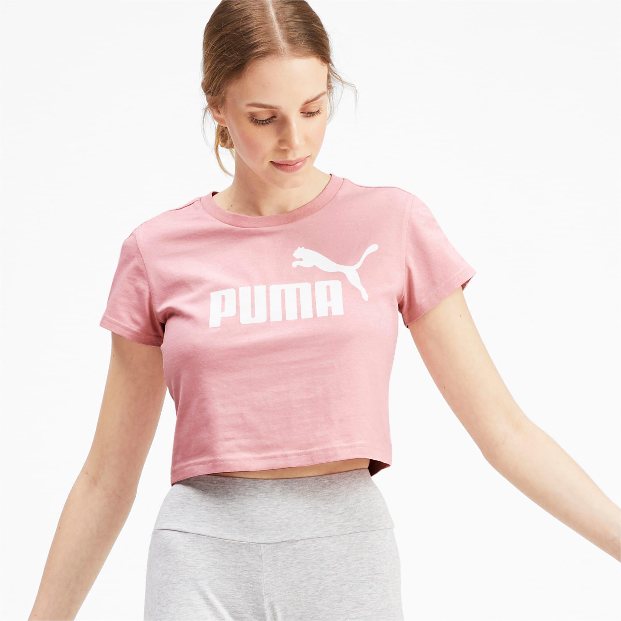 Miniatura 1 de Camiseta ajustada con logo Amplified para mujer, Bridal Rose, mediano