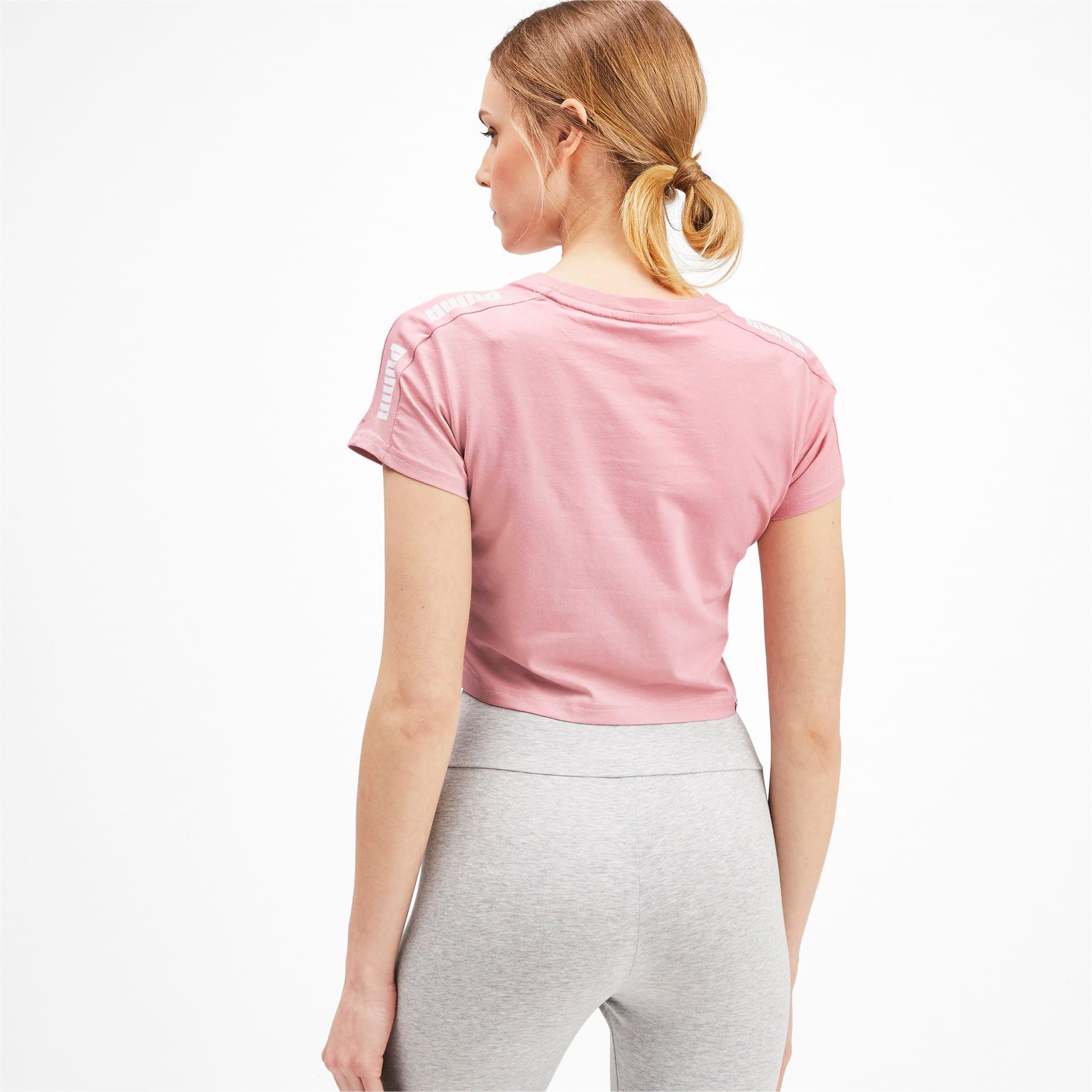 Miniatura 2 de Camiseta ajustada con logo Amplified para mujer, Bridal Rose, mediano
