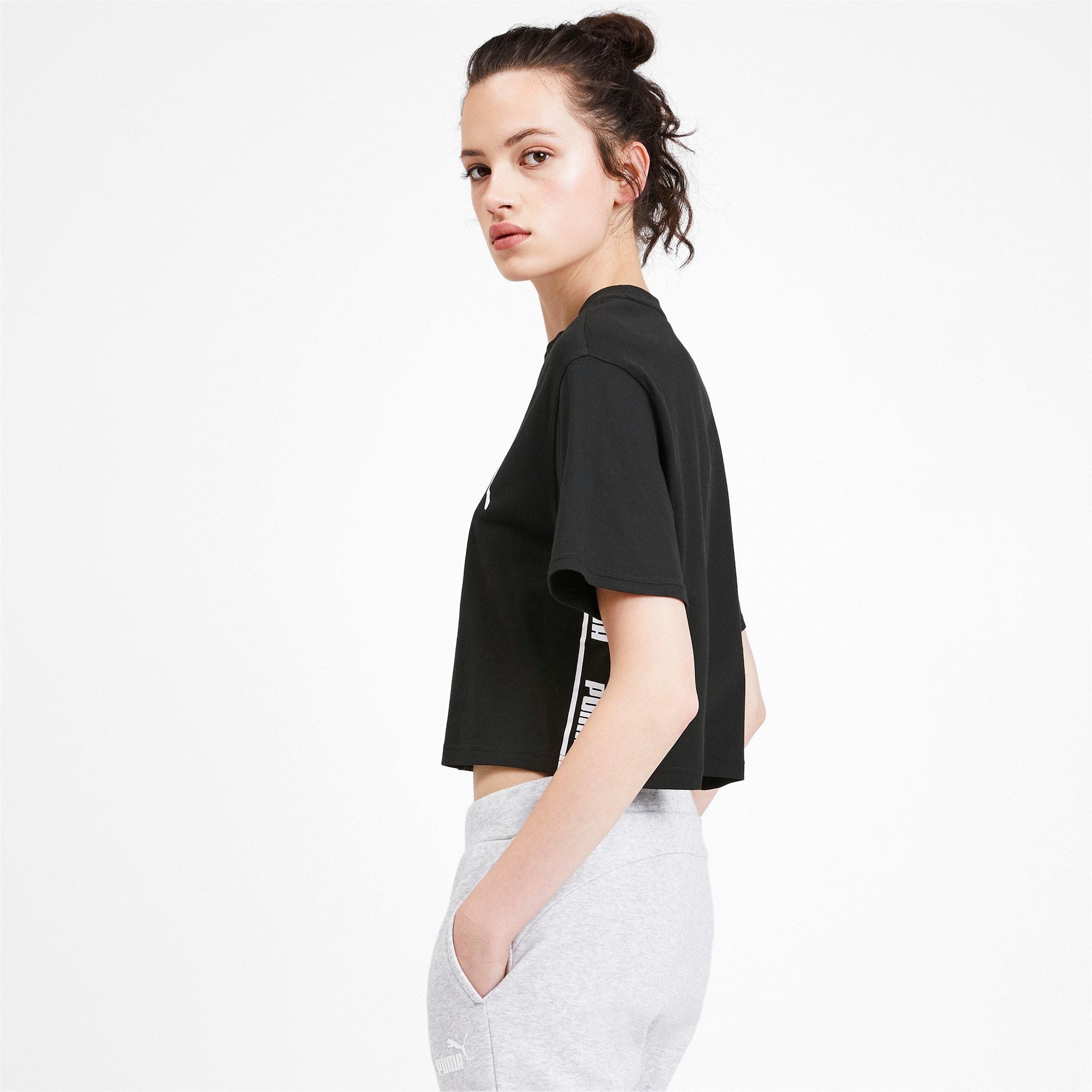 Miniatura 3 de Camiseta corta Amplified para mujer, Puma Black, mediano