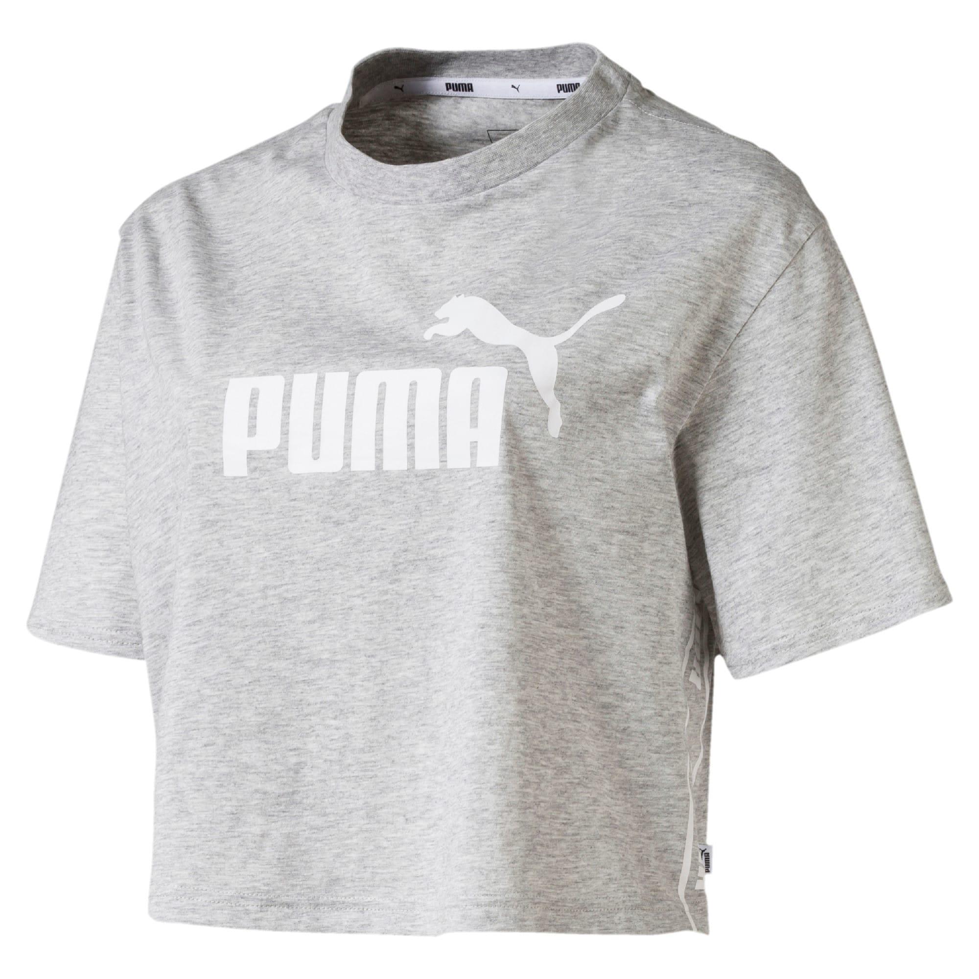 Miniatura 1 de Camiseta corta Amplified para mujer, Light Gray Heather, mediano