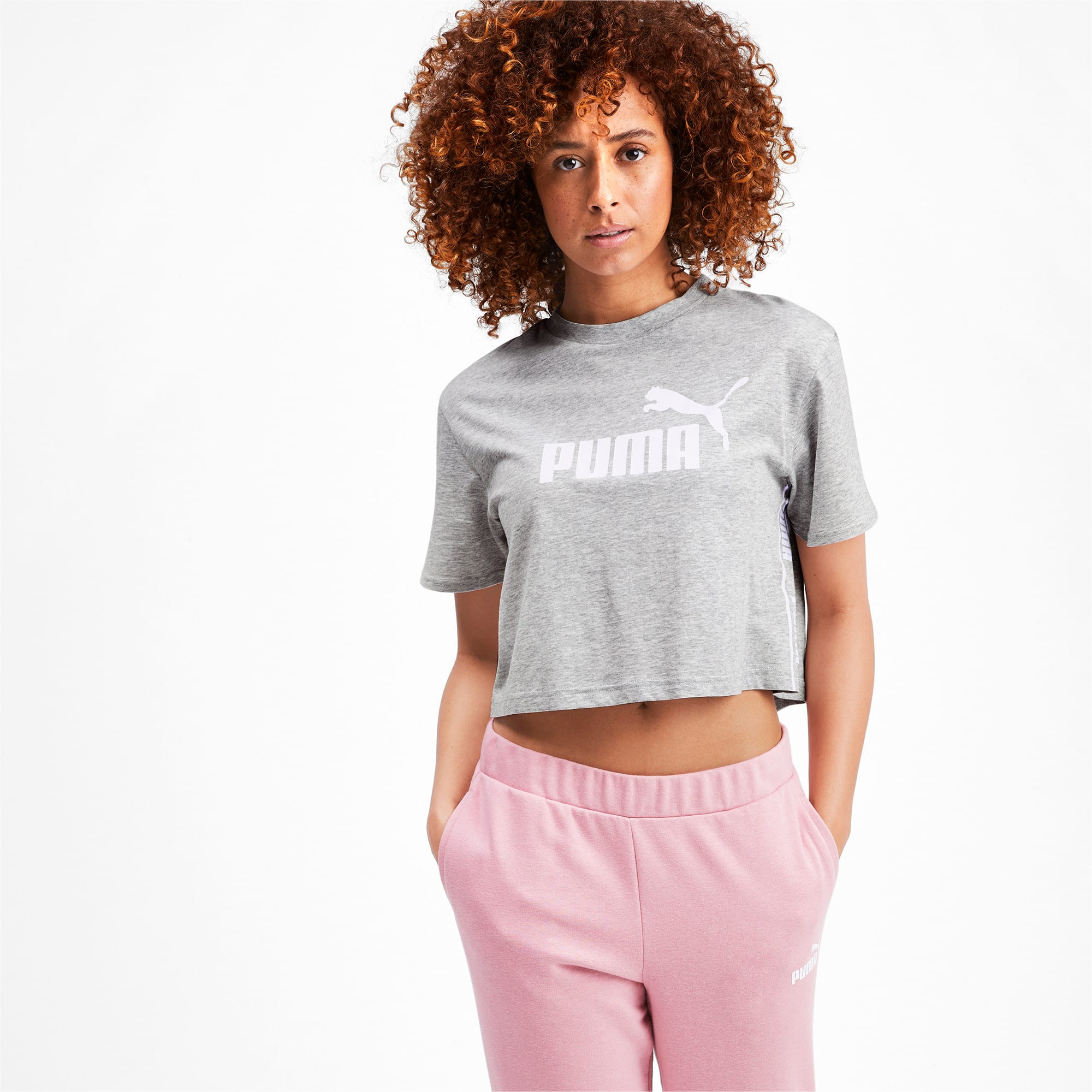 Miniatura 2 de Camiseta corta Amplified para mujer, Light Gray Heather, mediano