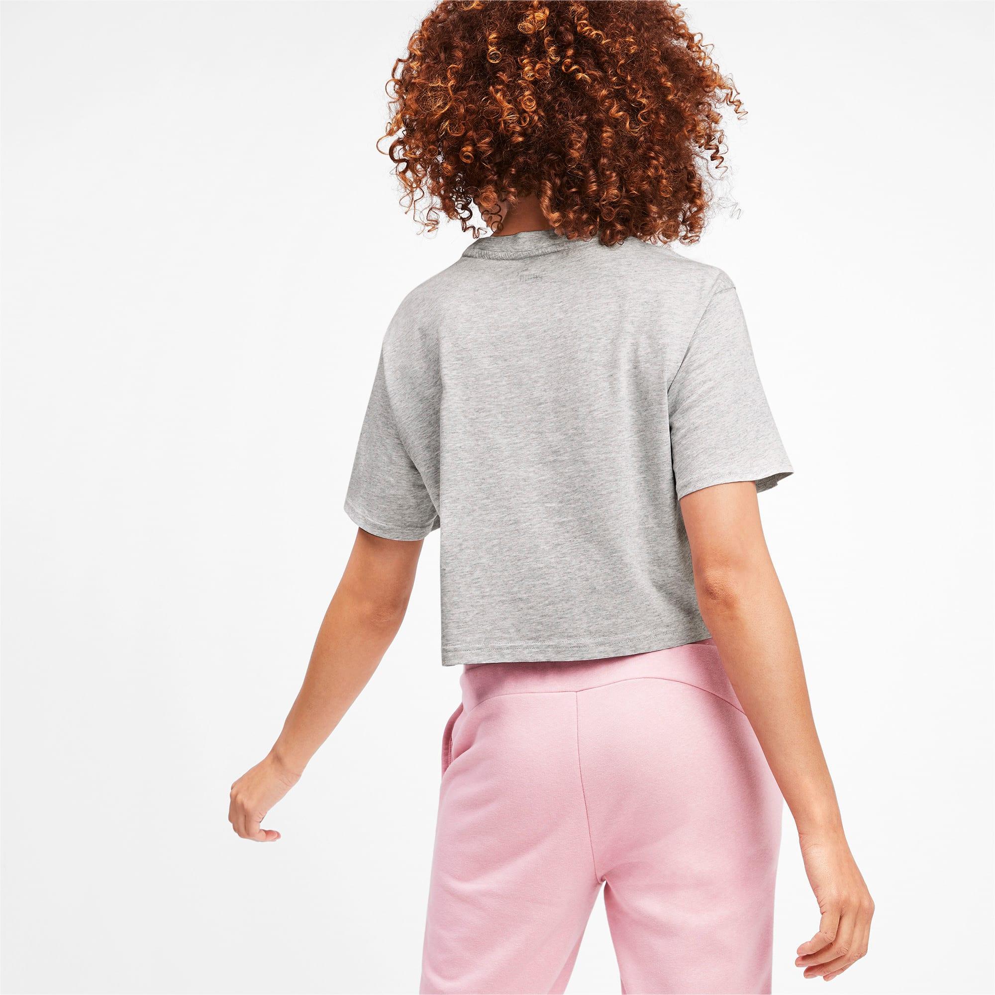 Miniatura 3 de Camiseta corta Amplified para mujer, Light Gray Heather, mediano