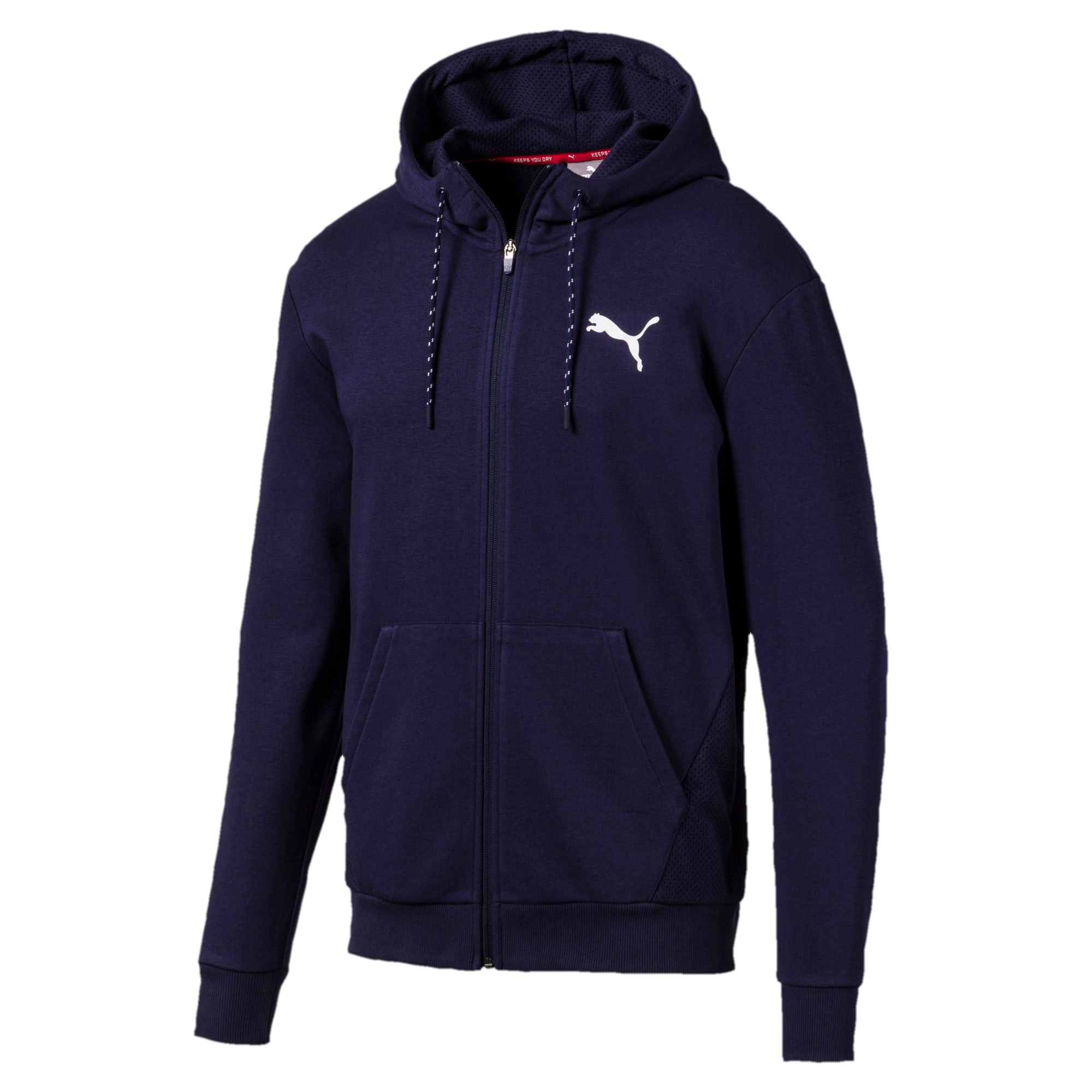 Miniatura 4 de Sudadera Modern Sports con capucha y cierre completo para hombre, Peacoat, mediano