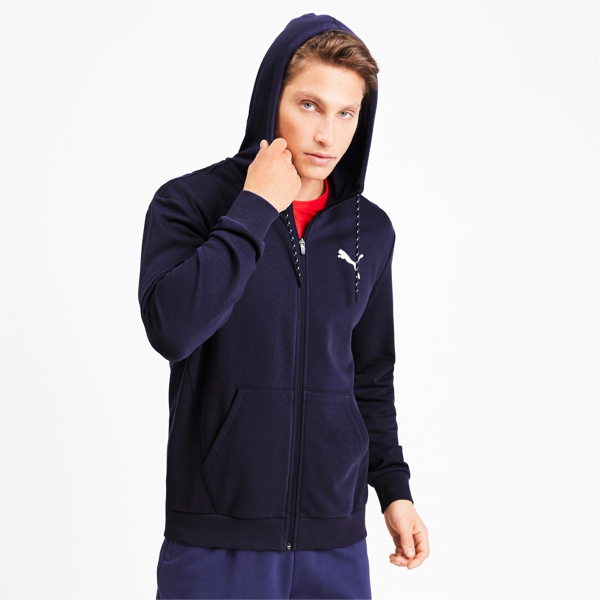 Miniatura 1 de Sudadera Modern Sports con capucha y cierre completo para hombre, Peacoat, mediano