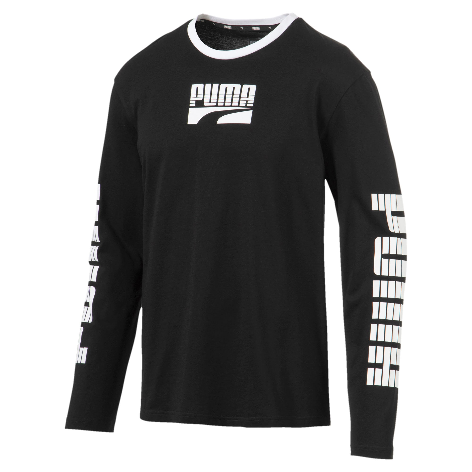 Thumbnail 1 of Rebel Bold Men's Long Sleeve Tee, Puma Black, medium
