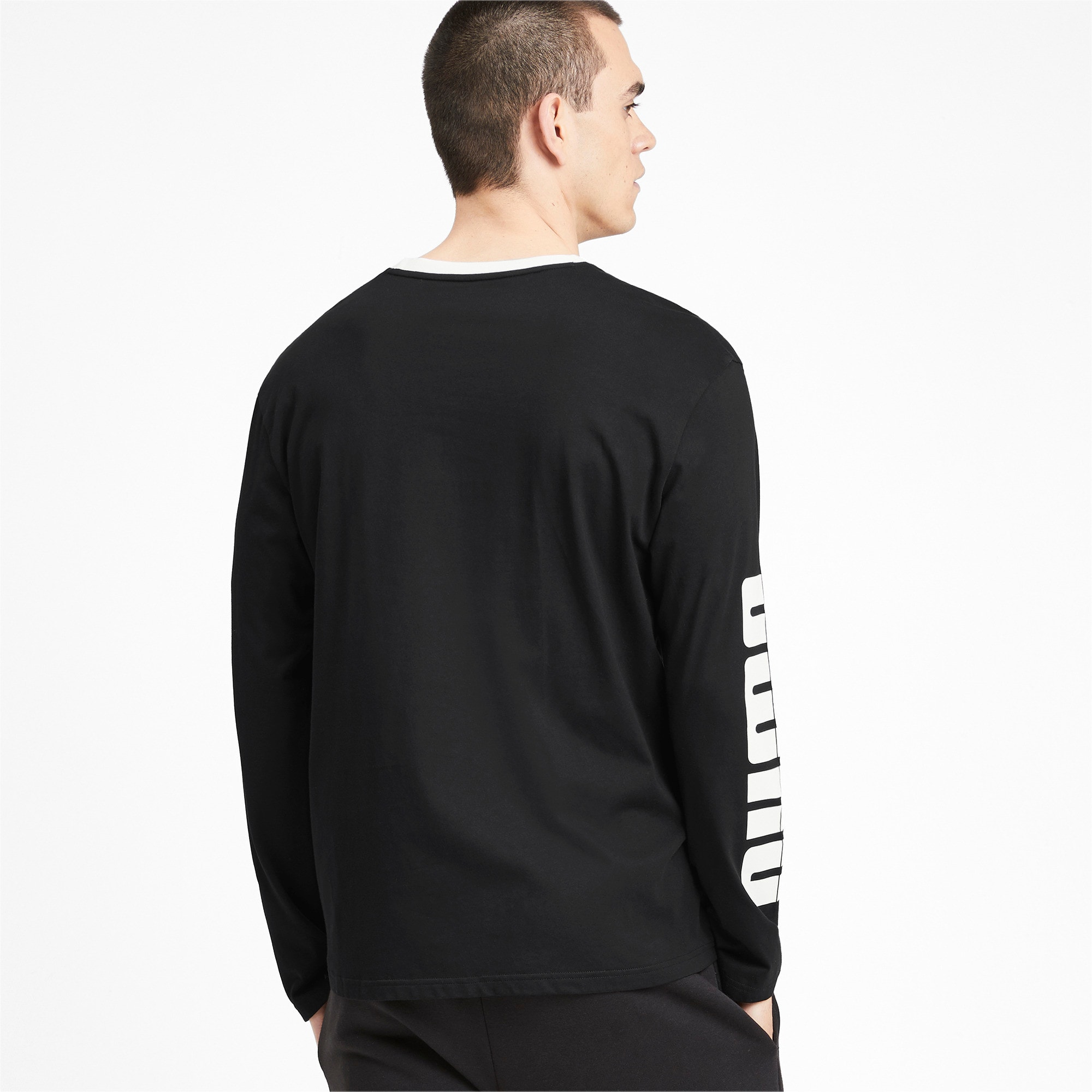 Thumbnail 3 of Rebel Bold Men's Long Sleeve Tee, Puma Black, medium