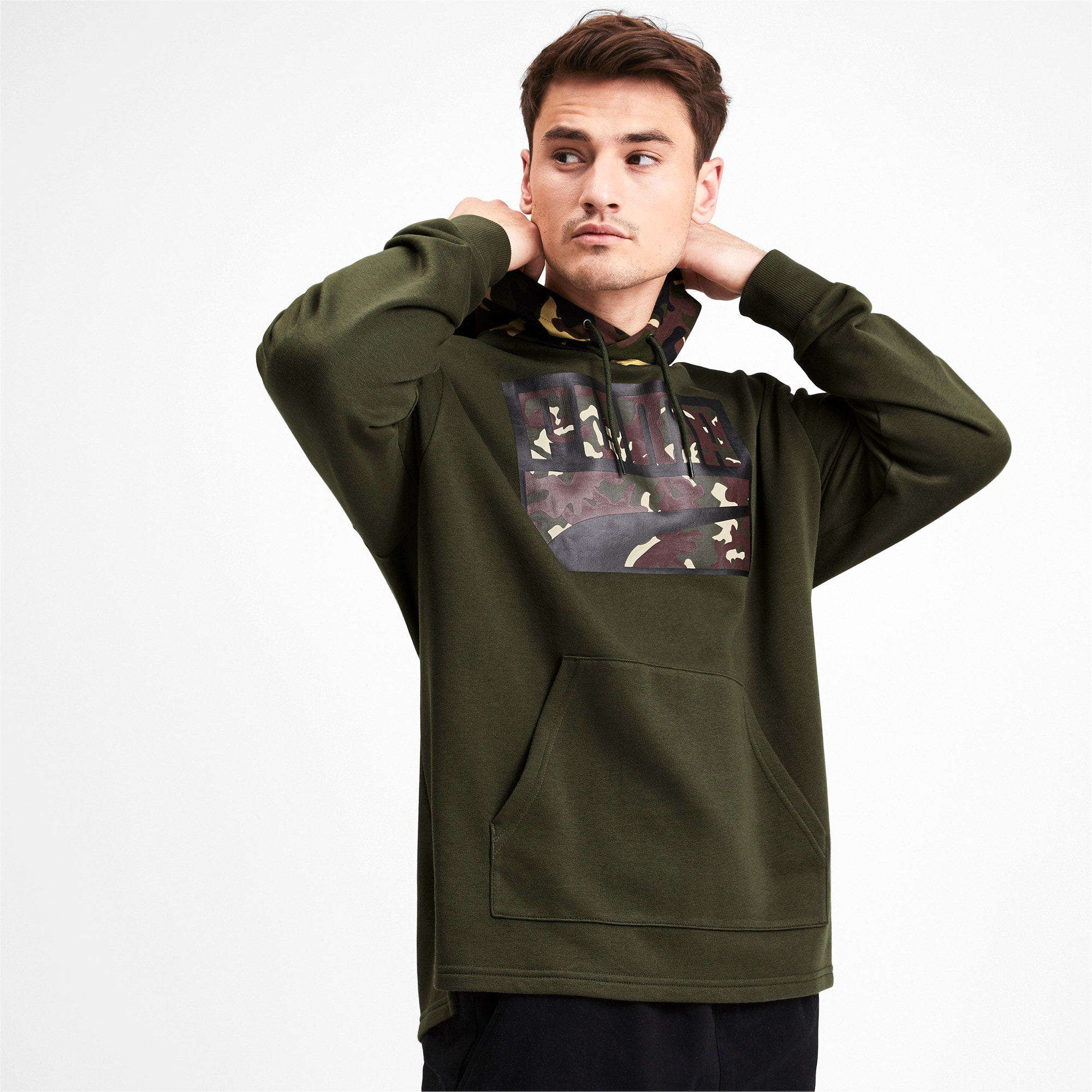 Thumbnail 2 of Rebel Camo Men's Hoodie, Forest Night, medium