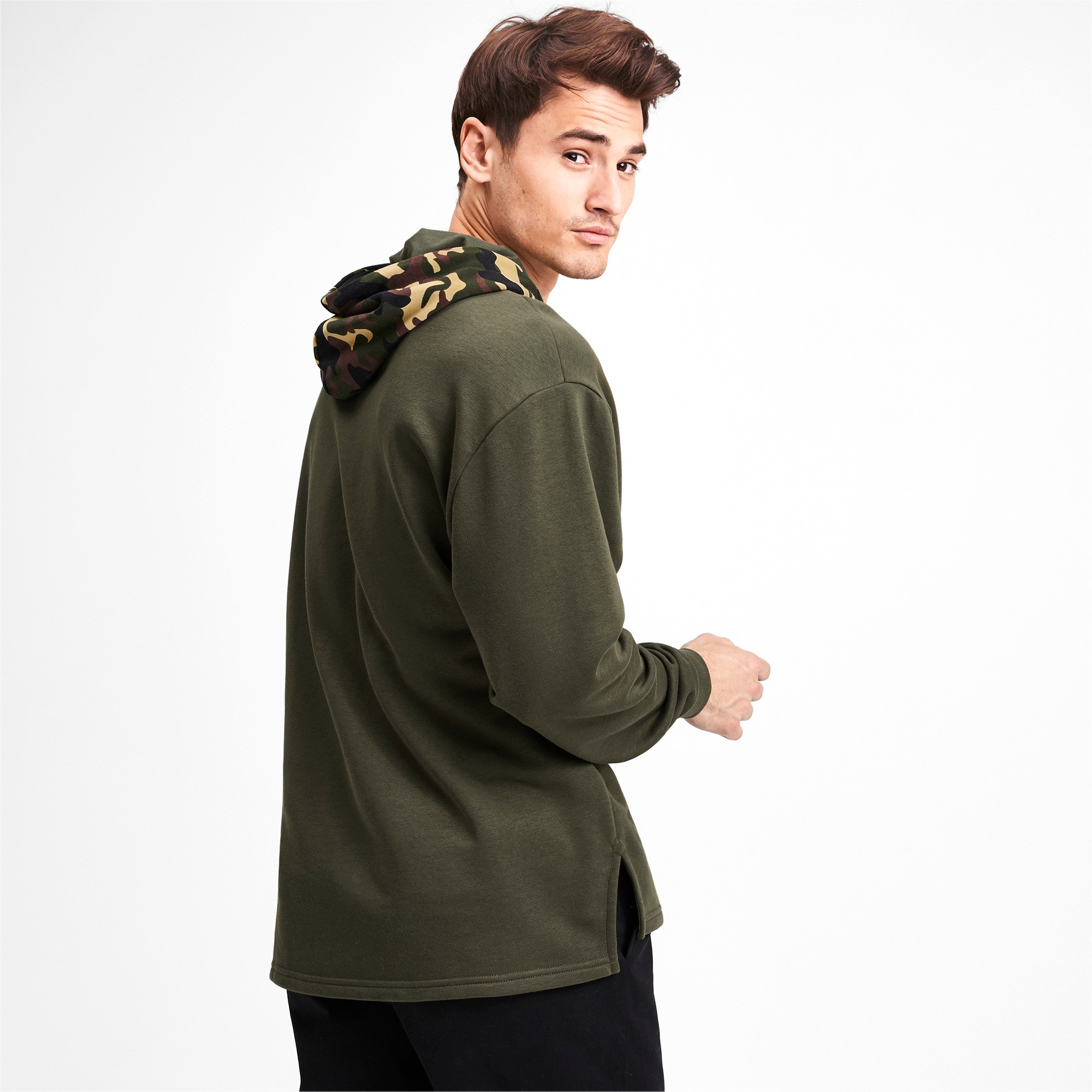 Thumbnail 3 of Rebel Camo Men's Hoodie, Forest Night, medium