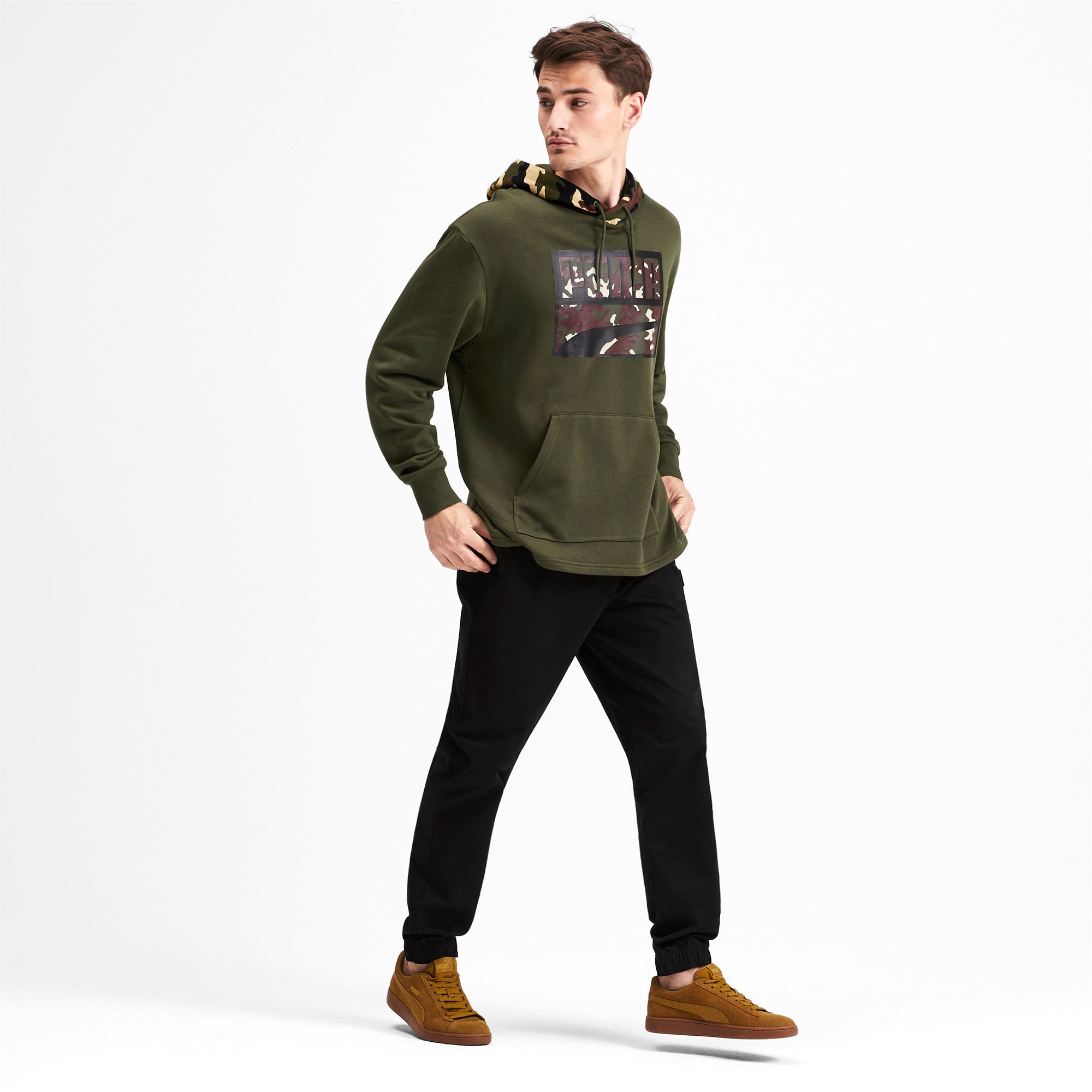 Thumbnail 4 of Rebel Camo Men's Hoodie, Forest Night, medium