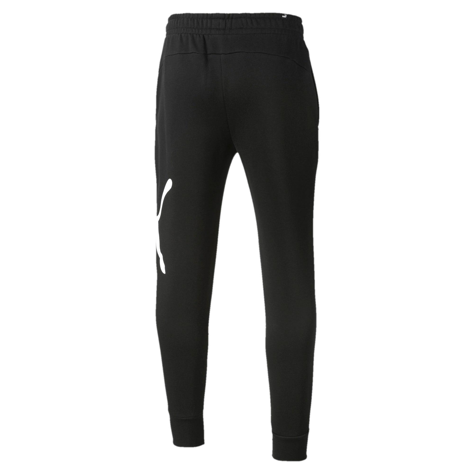 Thumbnail 5 of Men's Big Logo Fleece Sweatpants, Puma Black, medium