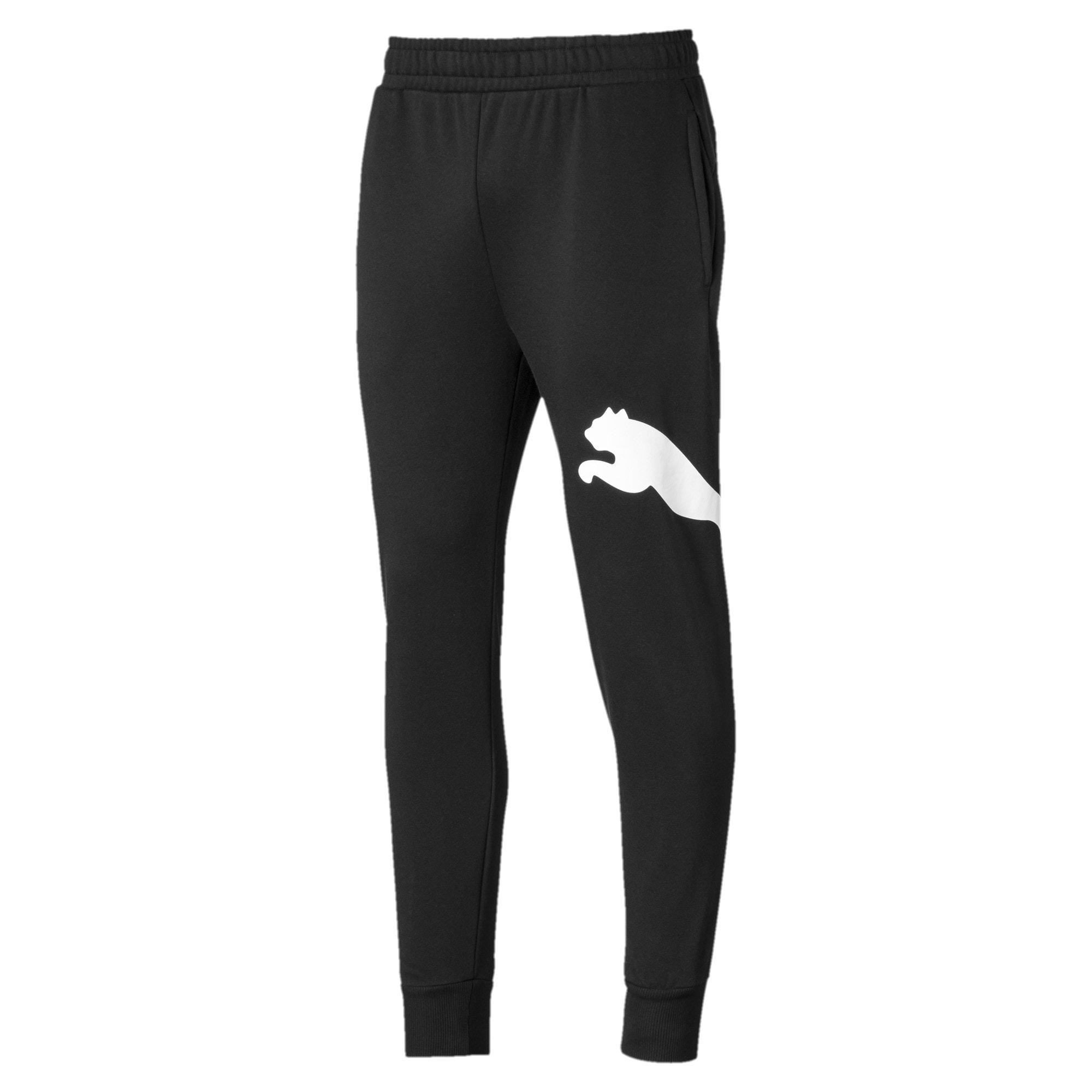 Thumbnail 1 of Men's Big Logo Fleece Sweatpants, Puma Black, medium
