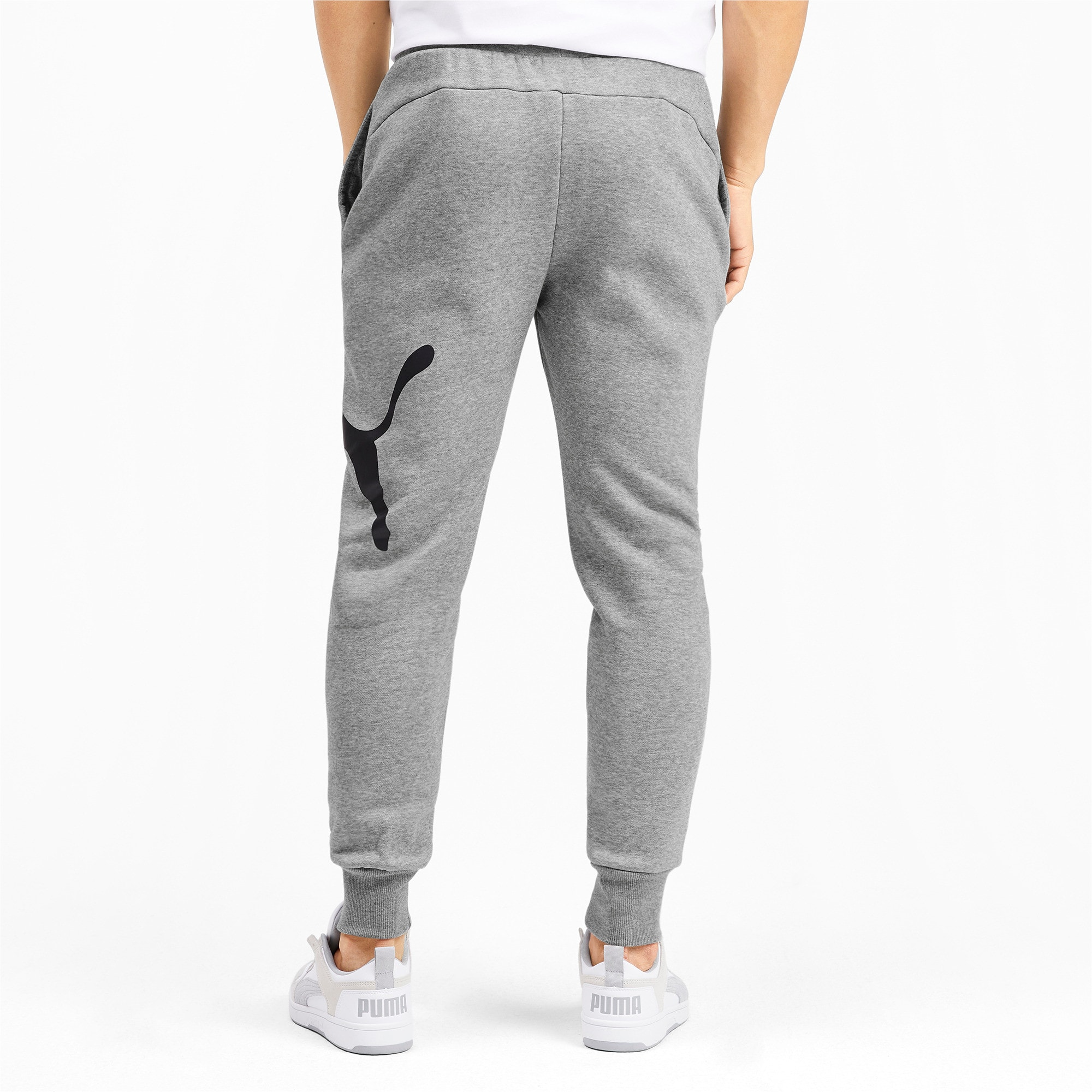 Thumbnail 3 of Men's Big Logo Fleece Sweatpants, Medium Gray Heather, medium