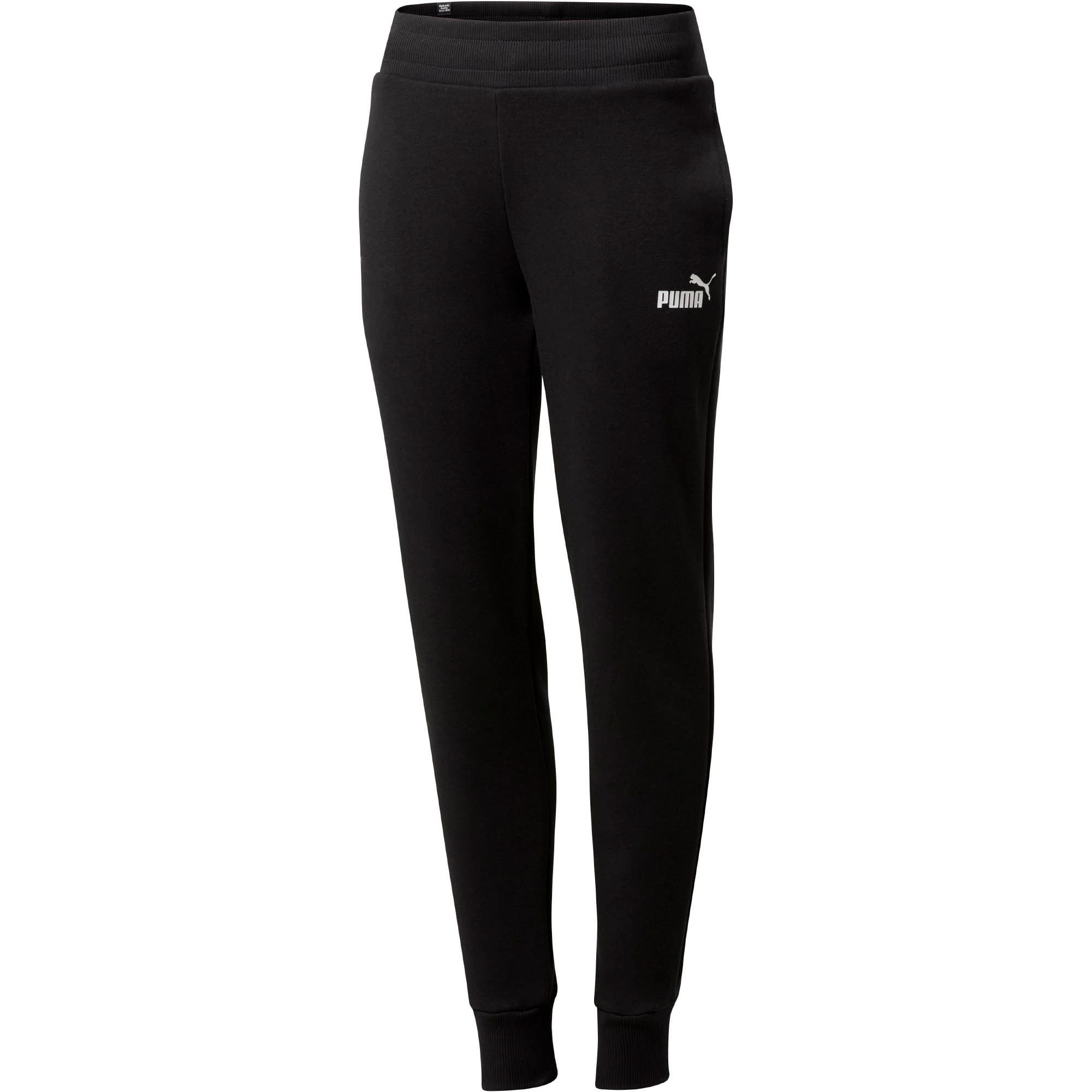ESS Women's Fleece Sweatpants, Cotton Black, large