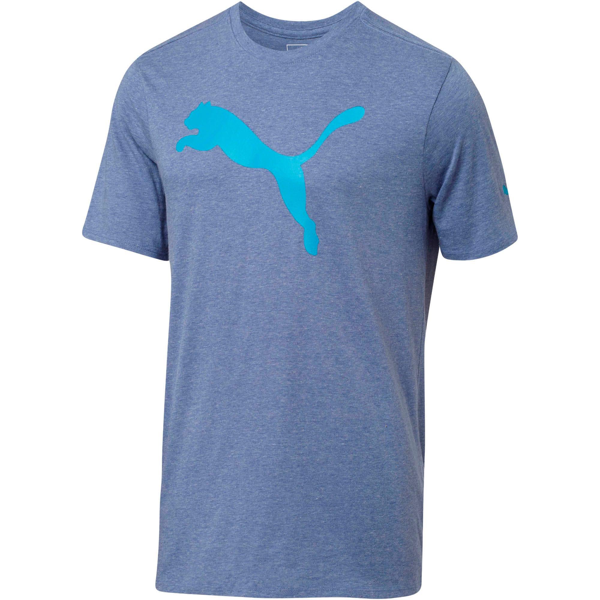 Thumbnail 1 of Big Cat Graphic T-Shirt, TRUE BLUE Heather, medium