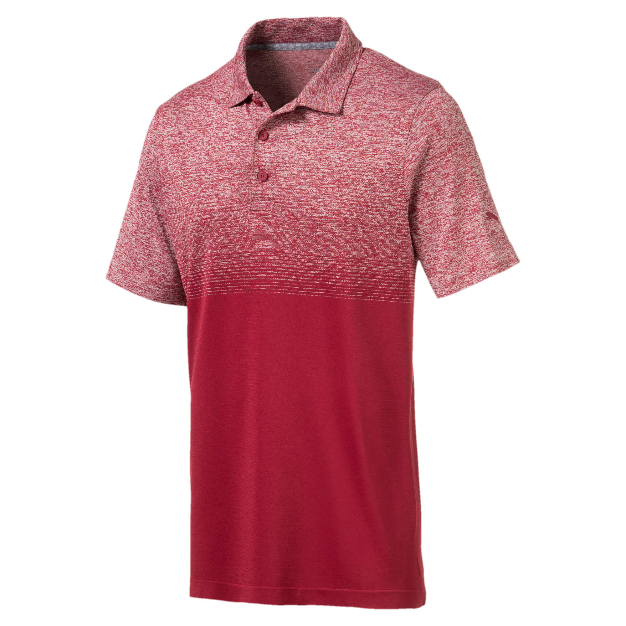 evoKNIT Men's Ombre Polo, Rhubarb, large