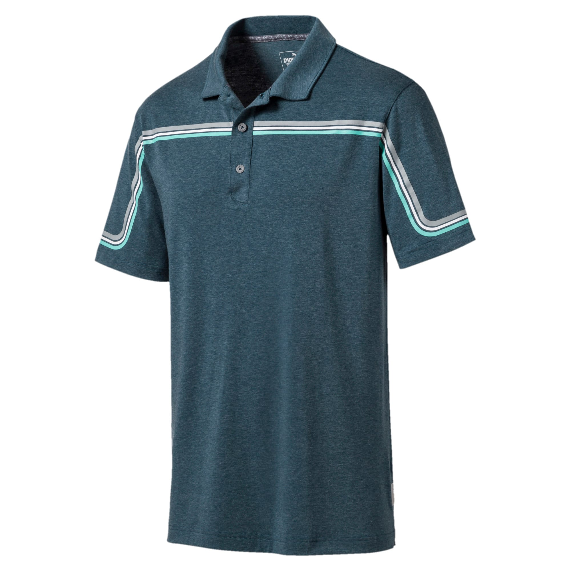 Thumbnail 4 of Looping Men's Golf Polo, Gibraltar Sea Heather, medium