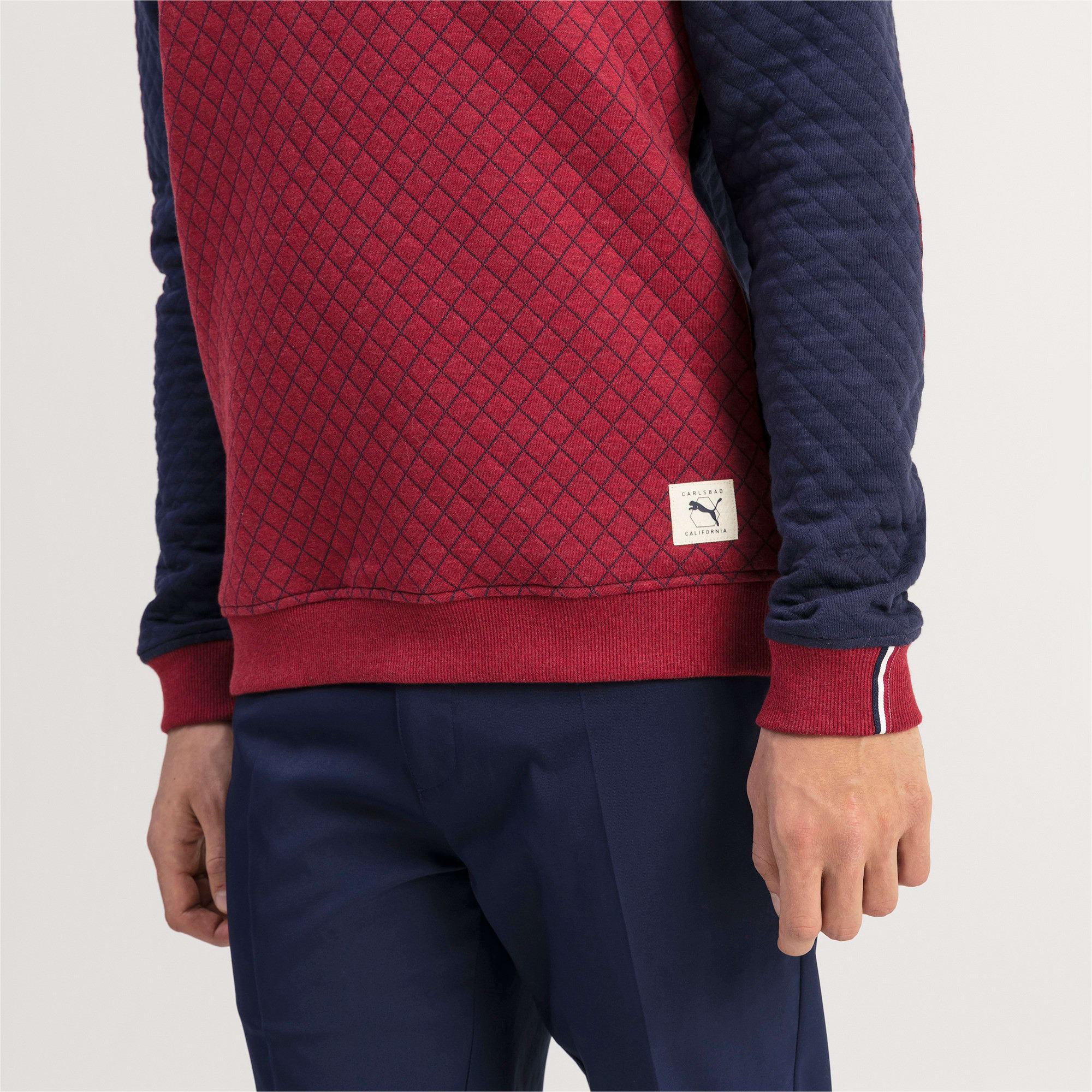 Thumbnail 4 of Gestepptes Herren Golf Sweatshirt, Rhubarb Heather, medium