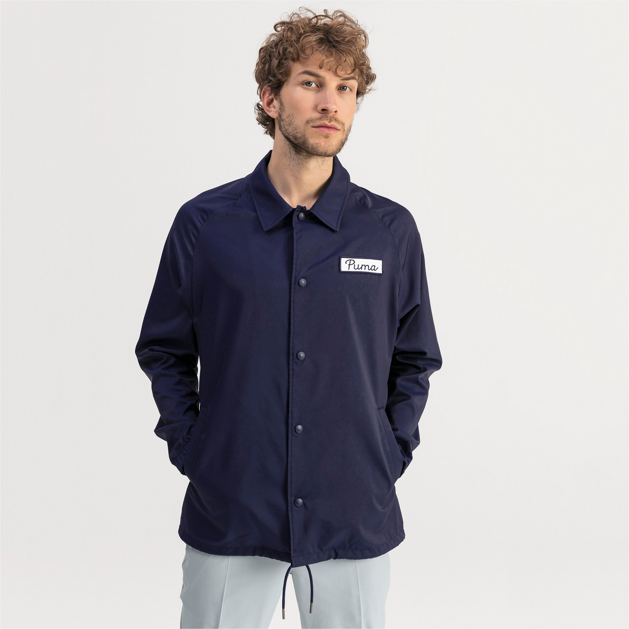 Thumbnail 1 of Blouson Coaches Golf pour homme, Peacoat, medium