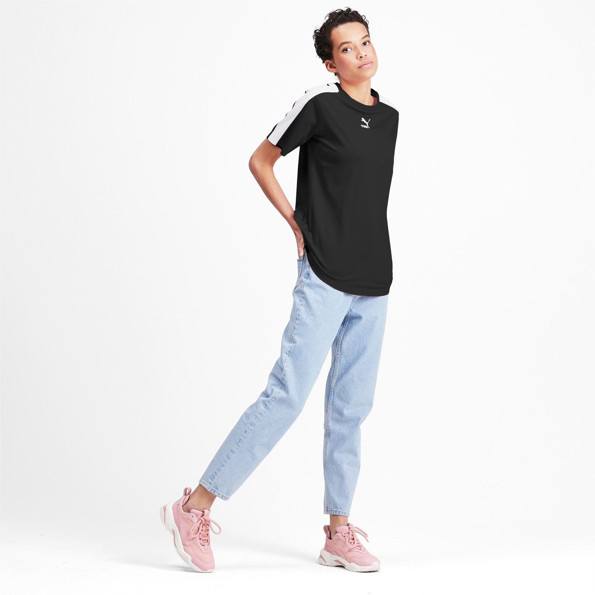 Miniatura 3 de Camiseta Classics T7 para mujer, Puma Black, mediano