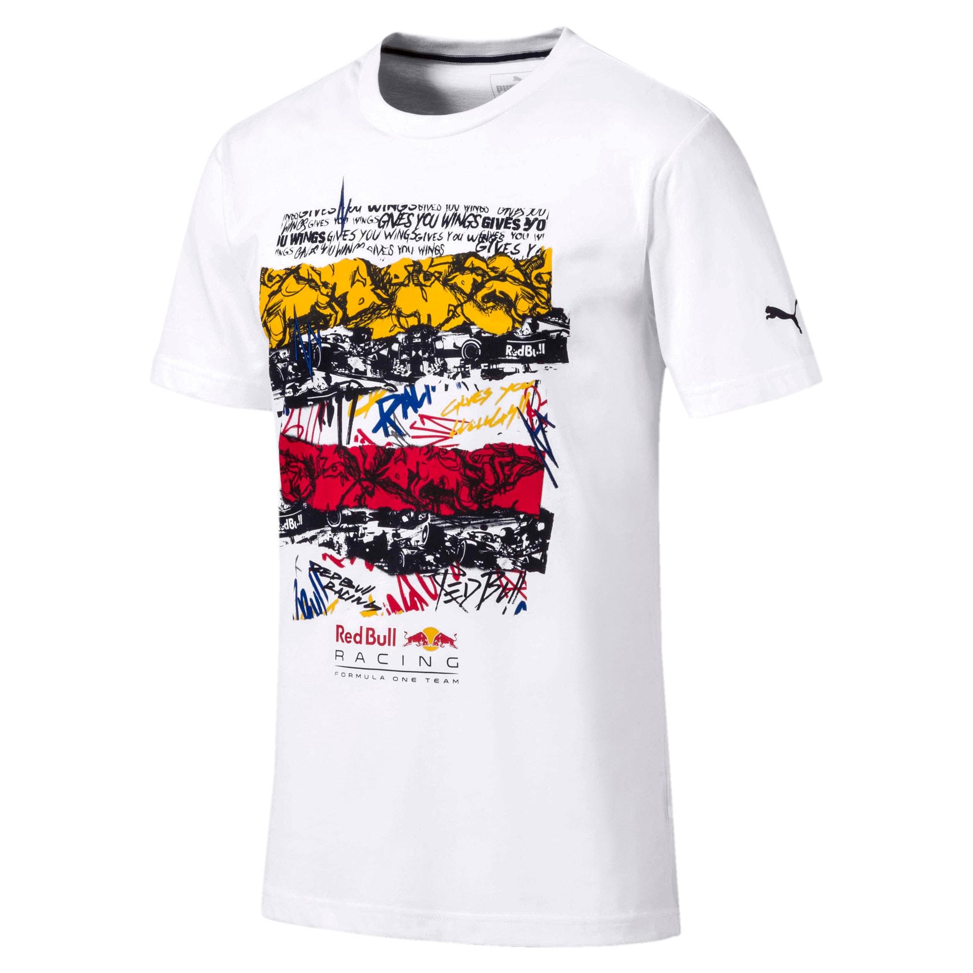 Miniatura 1 de Camiseta Red Bull Racing Street para hombre, Puma White, mediano