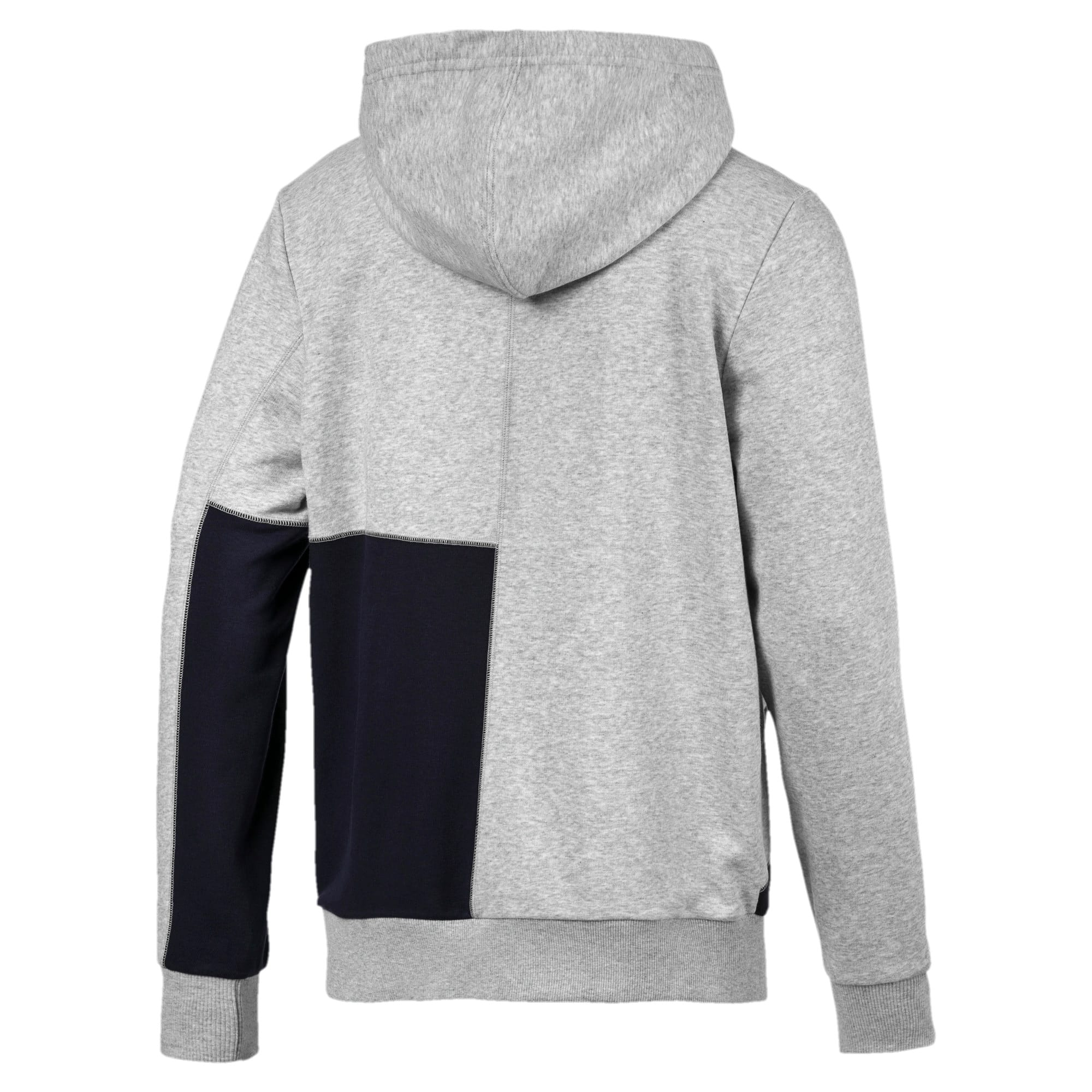 Thumbnail 6 of RBR Logo Hooded Men's Sweat Jacket, Light Gray Heather, medium