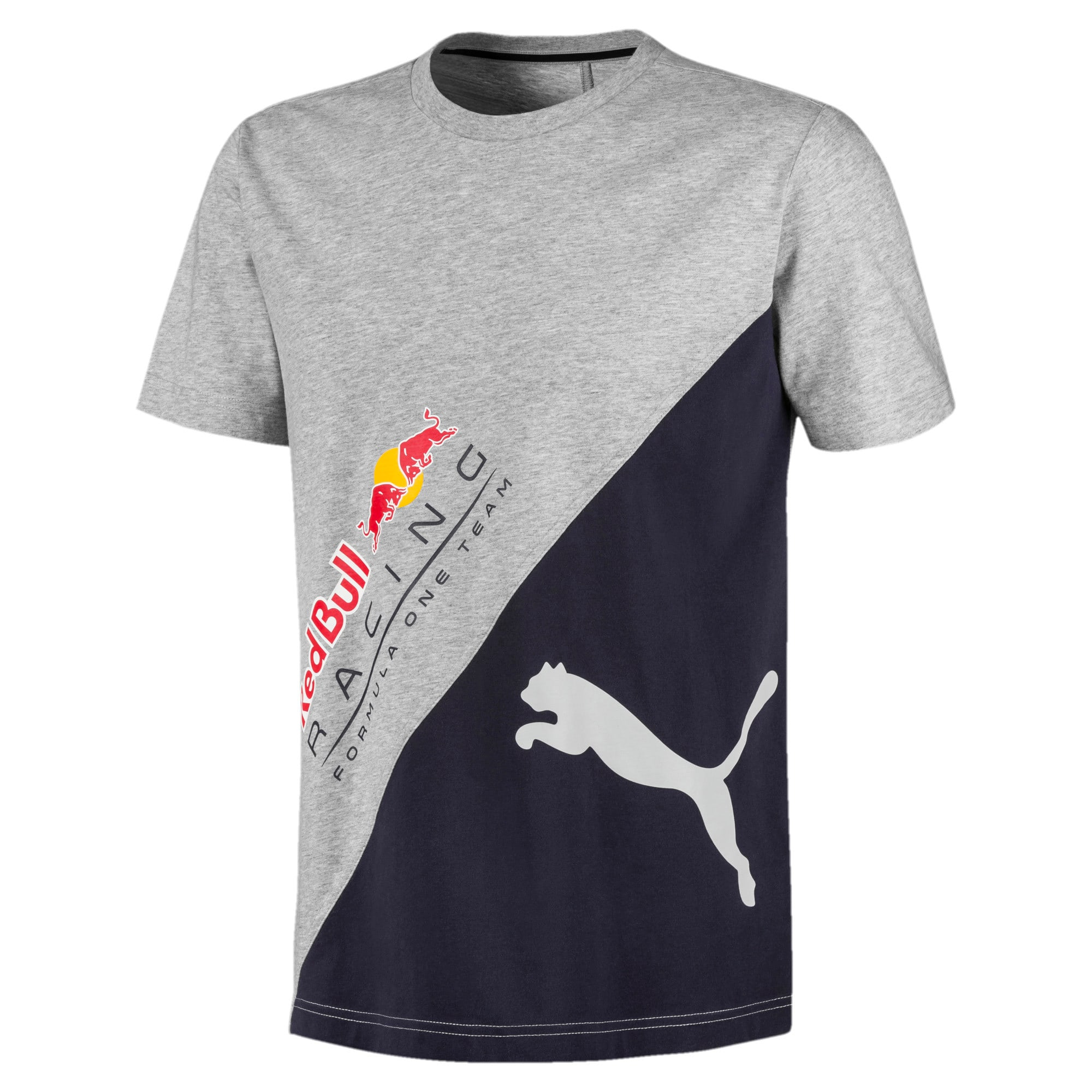 Red Bull Racing Men's Logo Tee +, Light Gray Heather, large