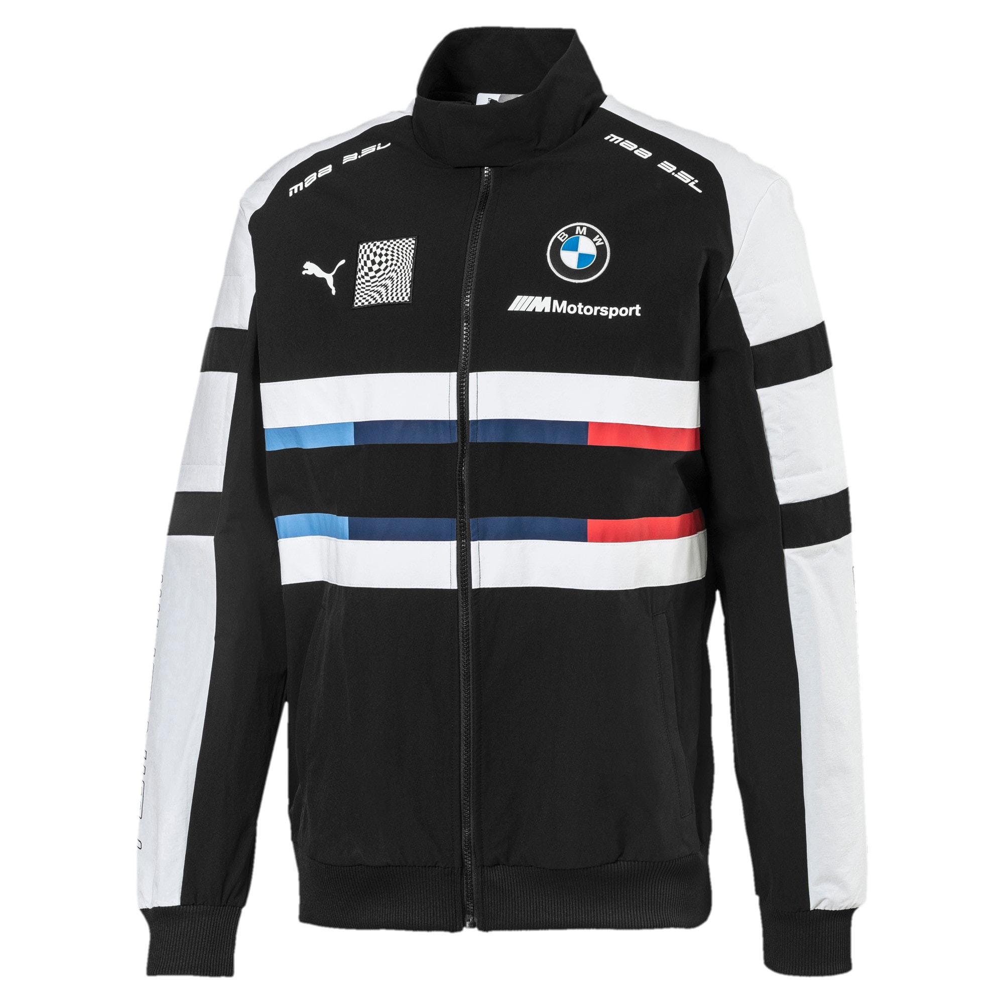 Thumbnail 4 of BMW Motorsport Street Woven Men's Jacket, Puma Black, medium