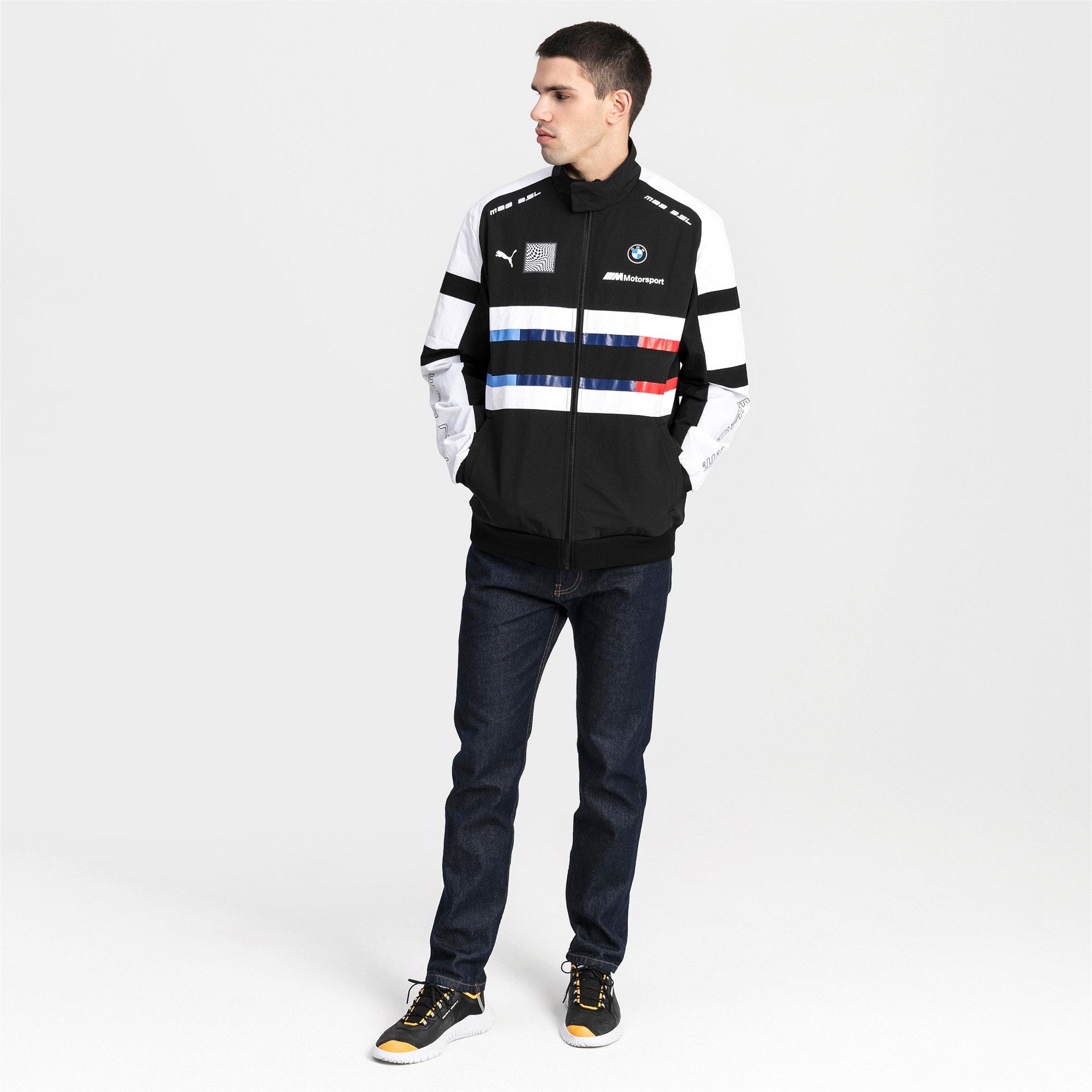 Thumbnail 3 of BMW Motorsport Street Woven Men's Jacket, Puma Black, medium