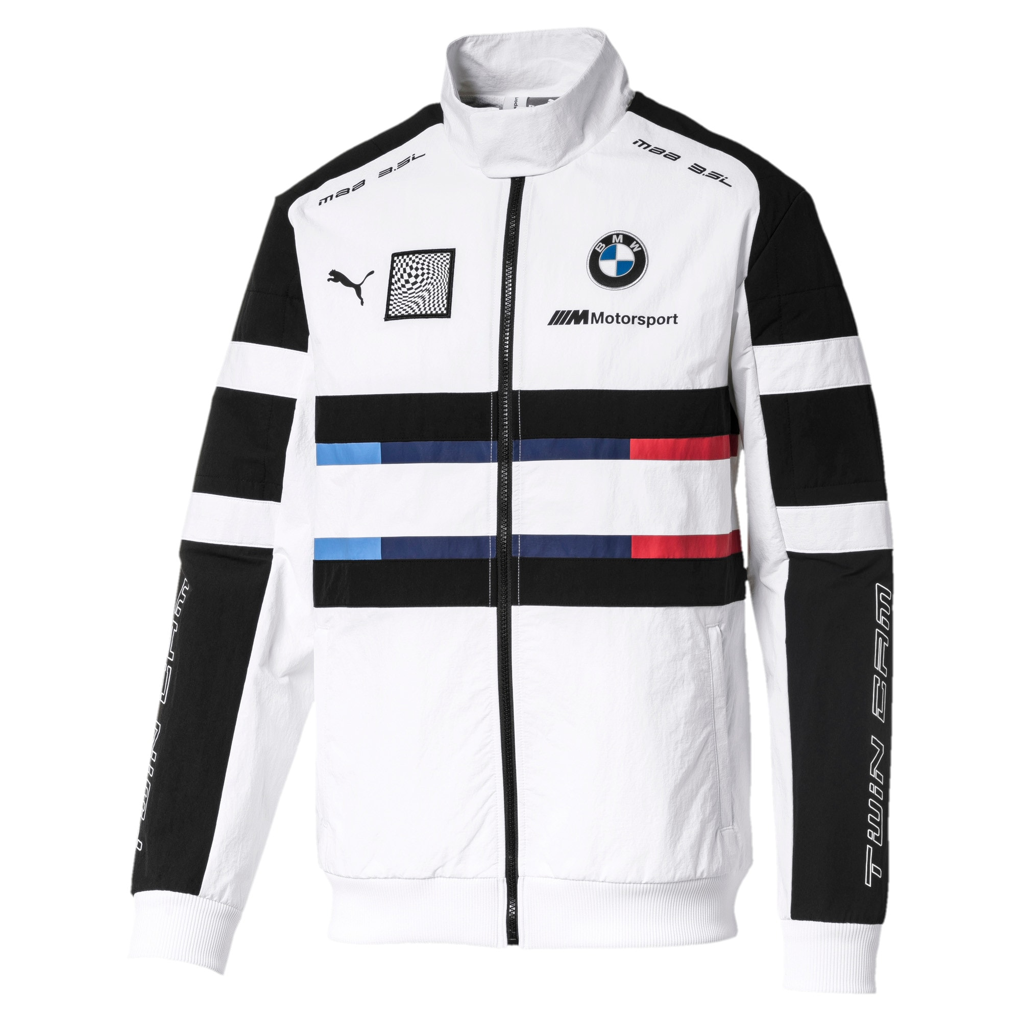 Thumbnail 1 of BMW Motorsport Street Woven Men's Jacket, Puma White, medium