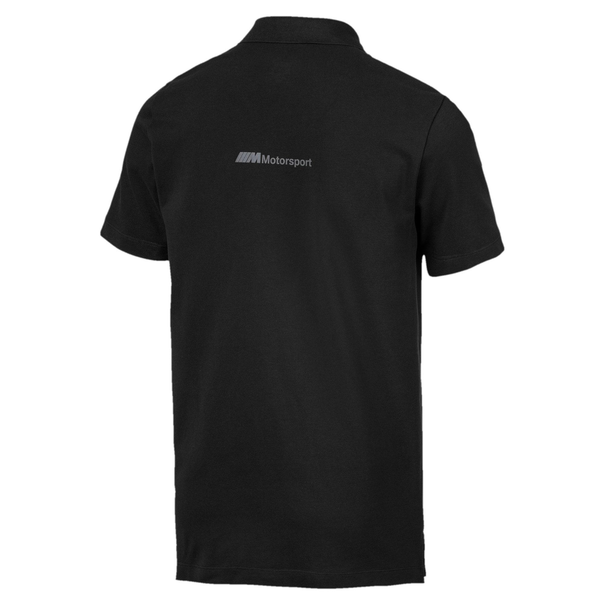 Thumbnail 5 of BMW M Motorsport Life Graphic Men's Polo Shirt, Puma Black, medium