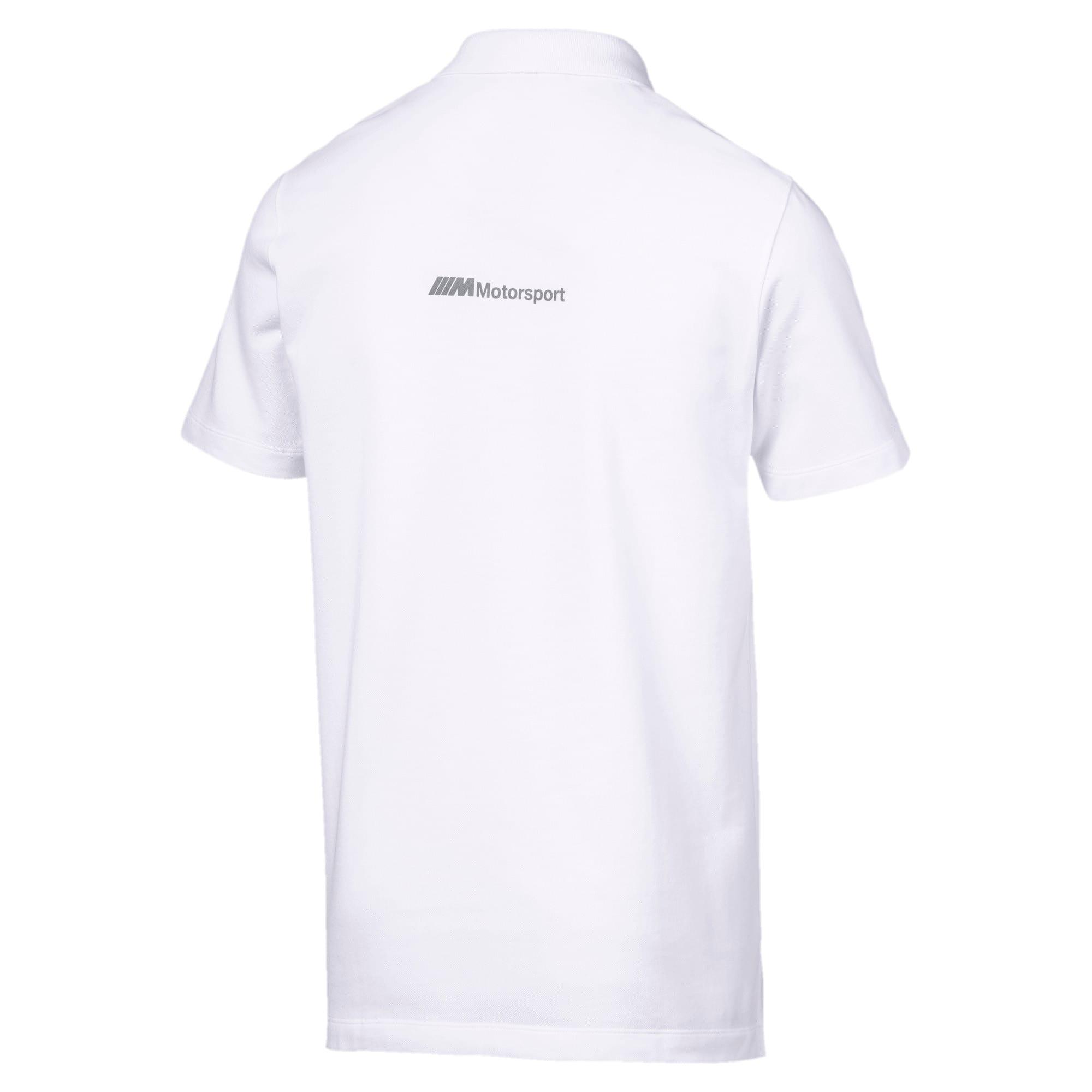 Thumbnail 5 of BMW M Motorsport Life Graphic Men's Polo Shirt, Puma White, medium