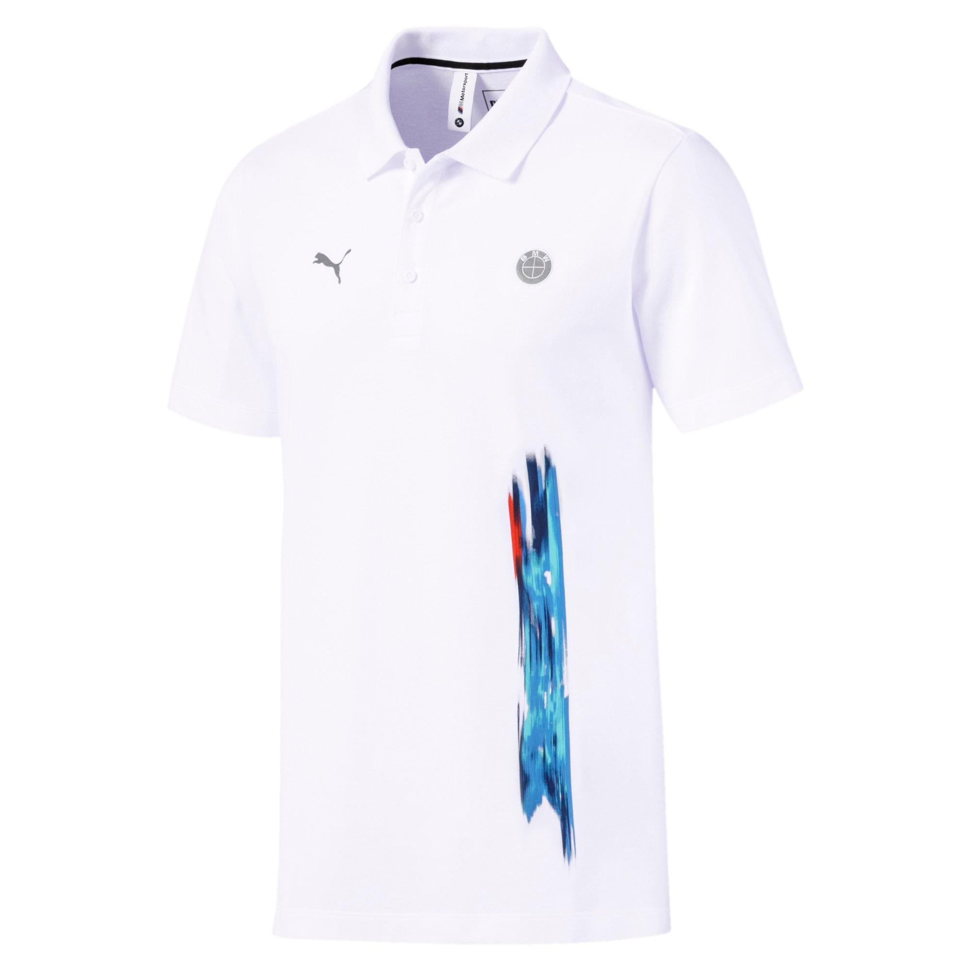 Thumbnail 4 of BMW M Motorsport Life Graphic Men's Polo Shirt, Puma White, medium