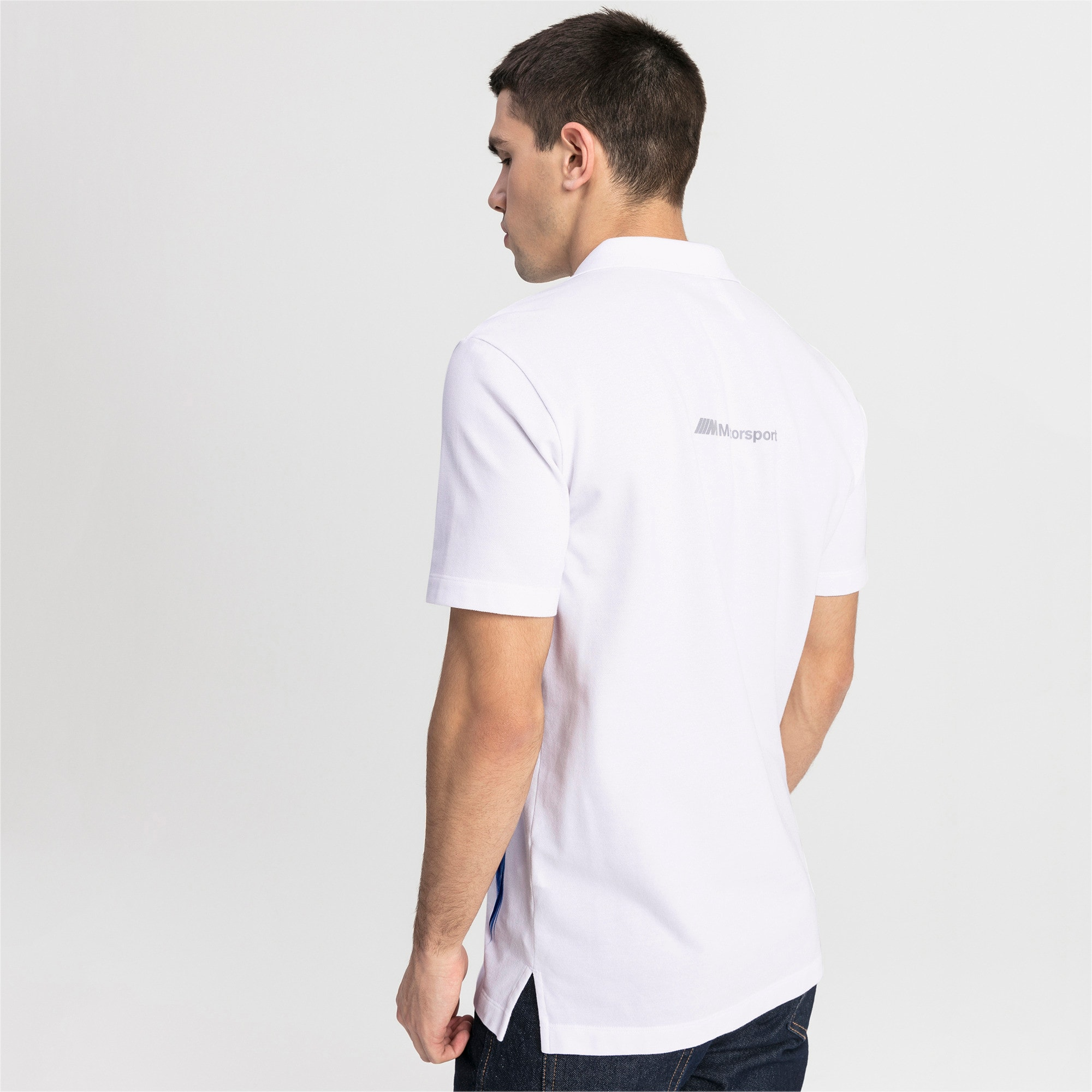 Thumbnail 2 of BMW M Motorsport Life Graphic Men's Polo Shirt, Puma White, medium