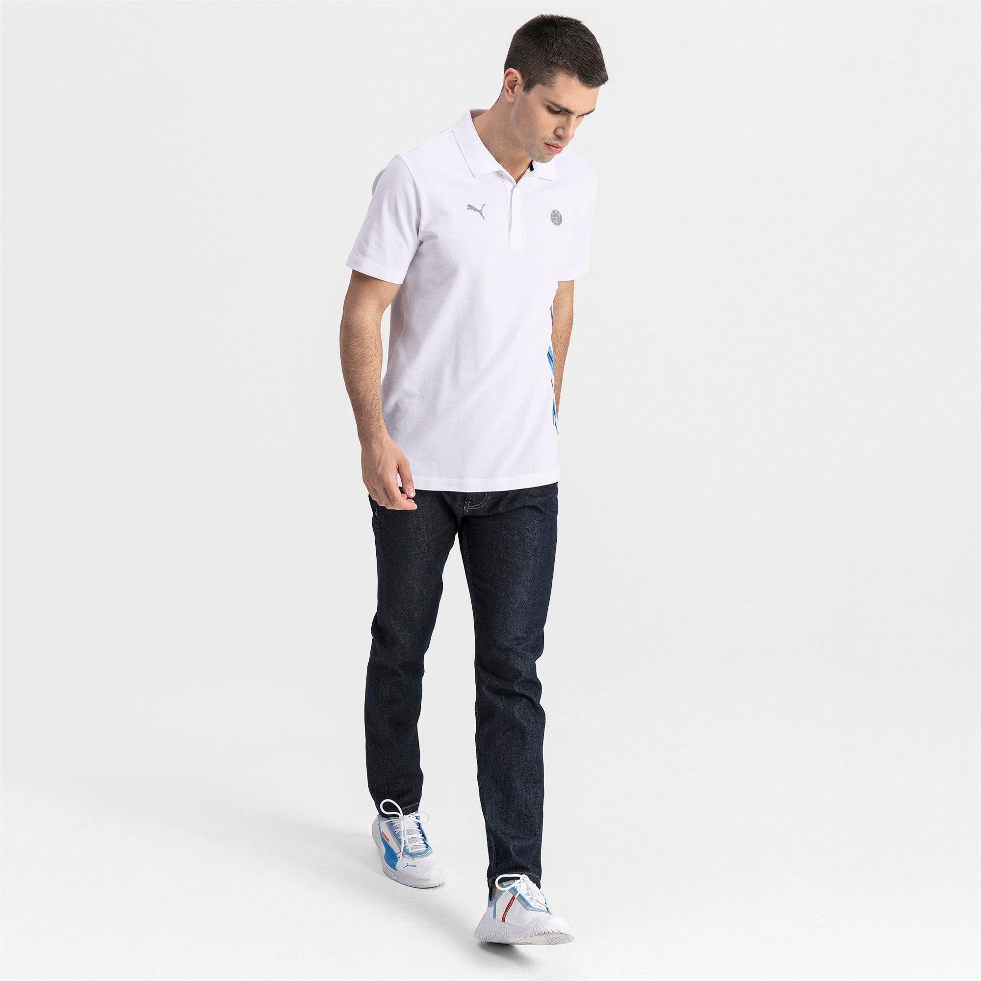 Thumbnail 3 of BMW M Motorsport Life Graphic Men's Polo Shirt, Puma White, medium