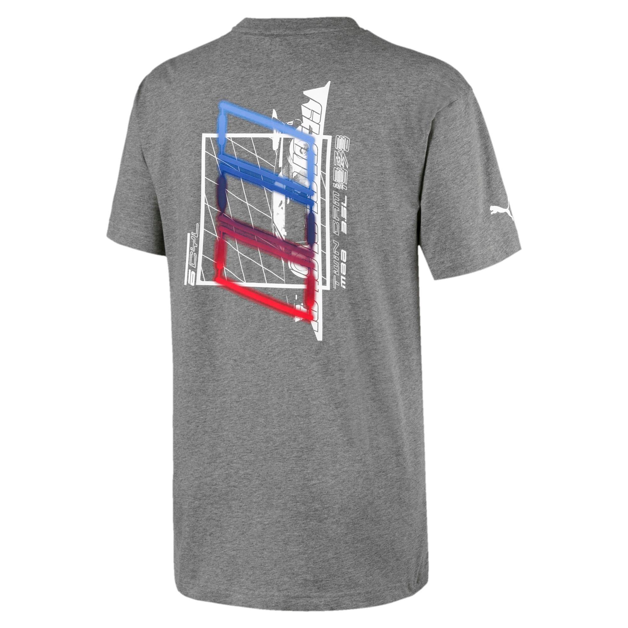 Miniatura 2 de Camiseta estampada BMW M Motorsport Street para hombre, Medium Gray Heather, mediano