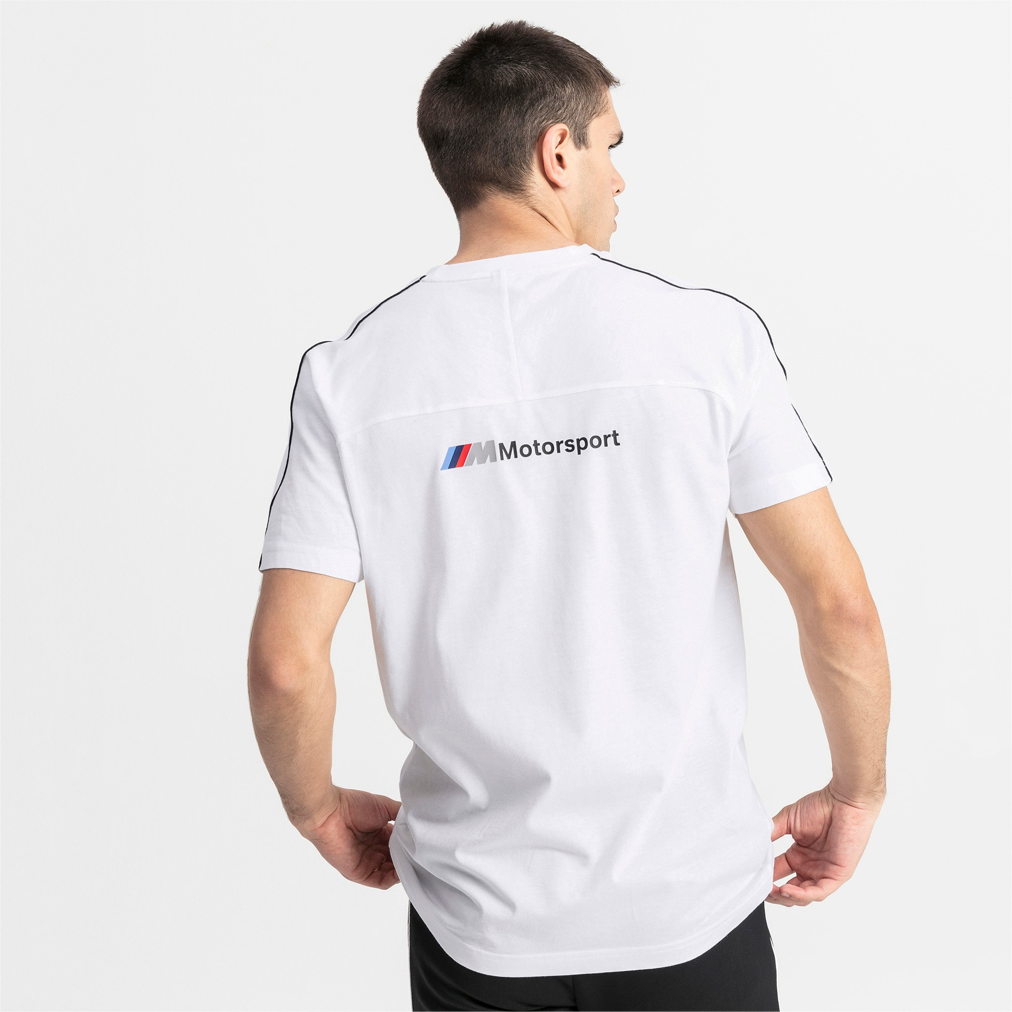 Thumbnail 2 of BMW M Motorsport T7 Men's Tee, Puma White, medium