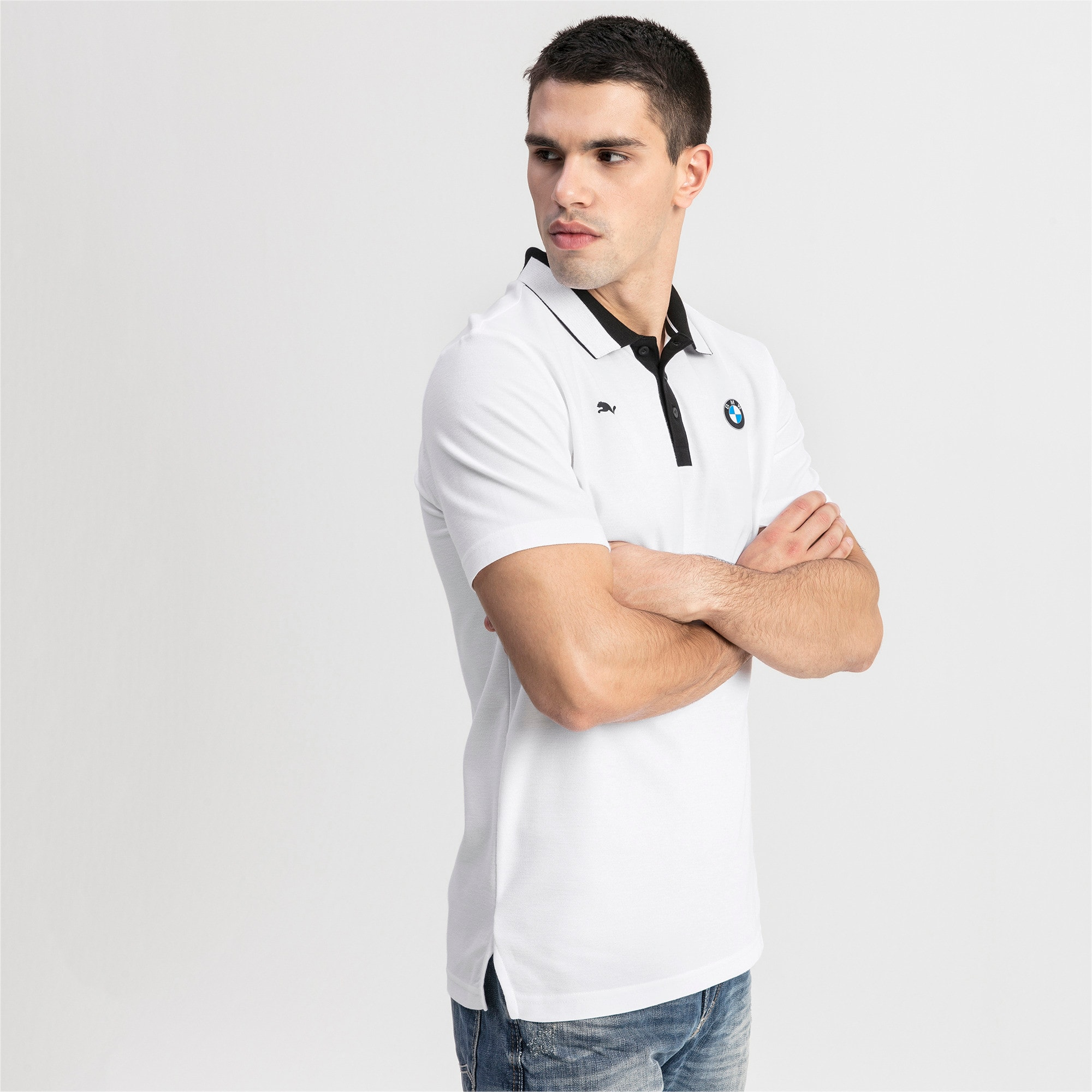 Thumbnail 1 of BMW M Motorsport Men's Polo Shirt, Puma White, medium