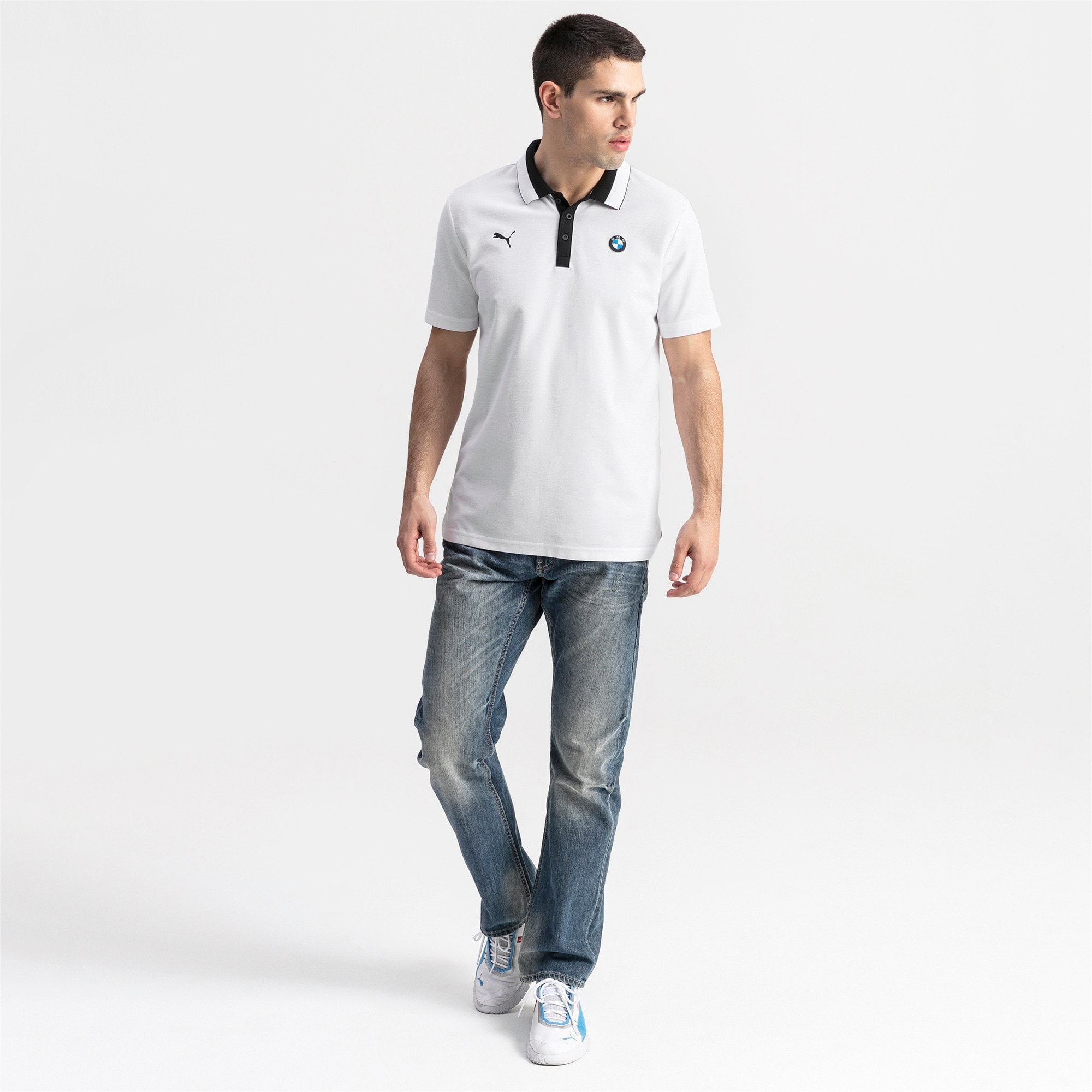 Thumbnail 3 of BMW M Motorsport Men's Polo Shirt, Puma White, medium
