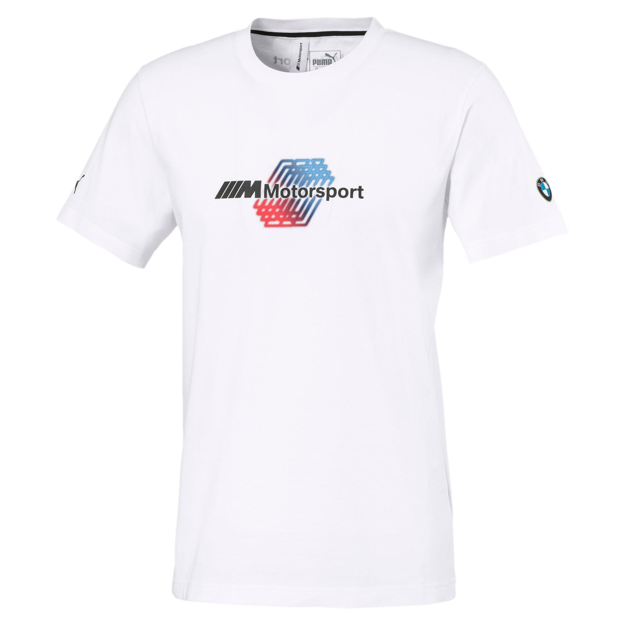Thumbnail 4 of BMW M Motorsports Logo Men's Tee, Puma White, medium