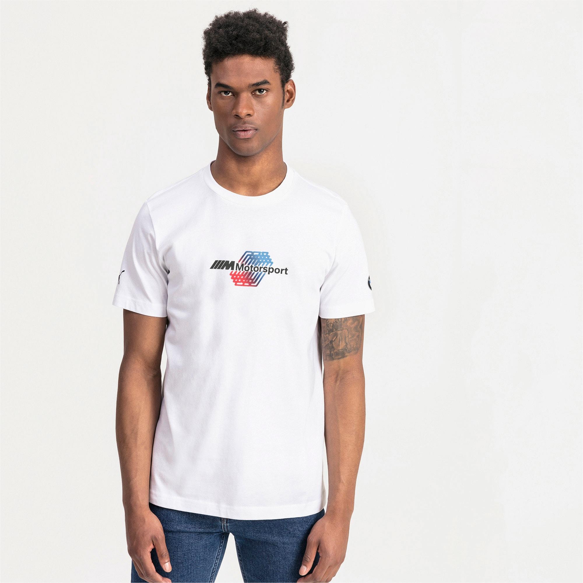 Thumbnail 1 of BMW M Motorsports Logo Men's Tee, Puma White, medium