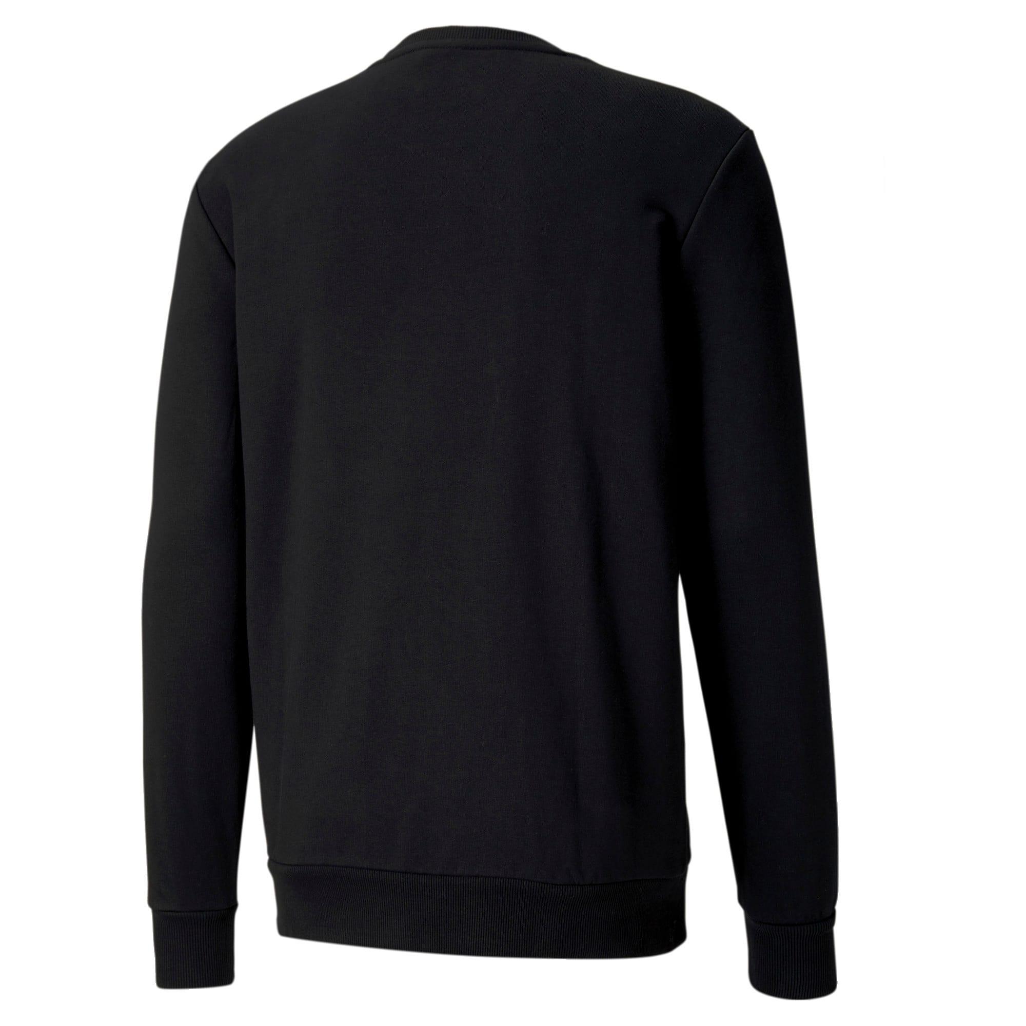 Thumbnail 5 of Classics Logo Men's Crewneck Sweatshirt, Puma Black, medium