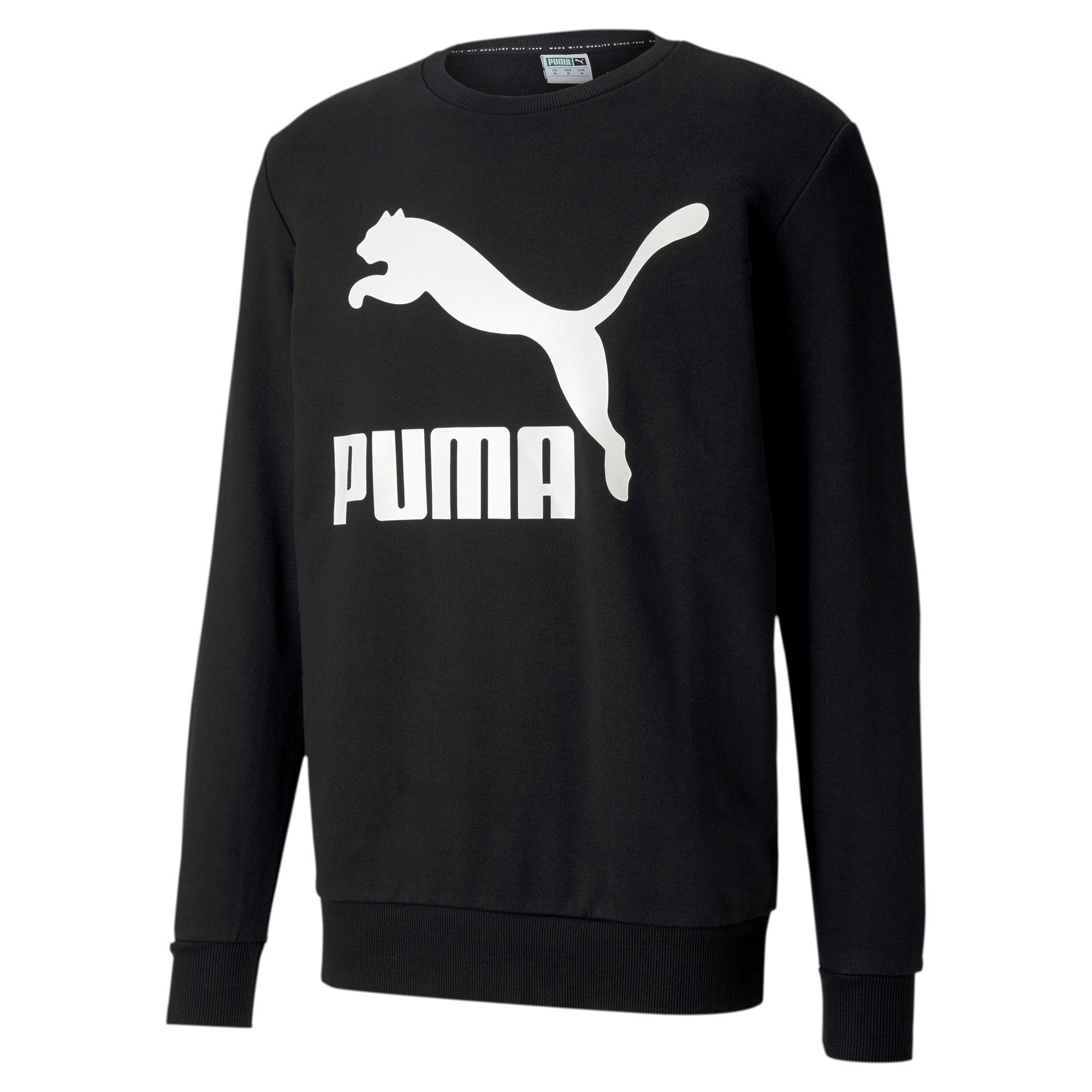 Thumbnail 1 of Classics Logo Men's Crewneck Sweatshirt, Puma Black, medium