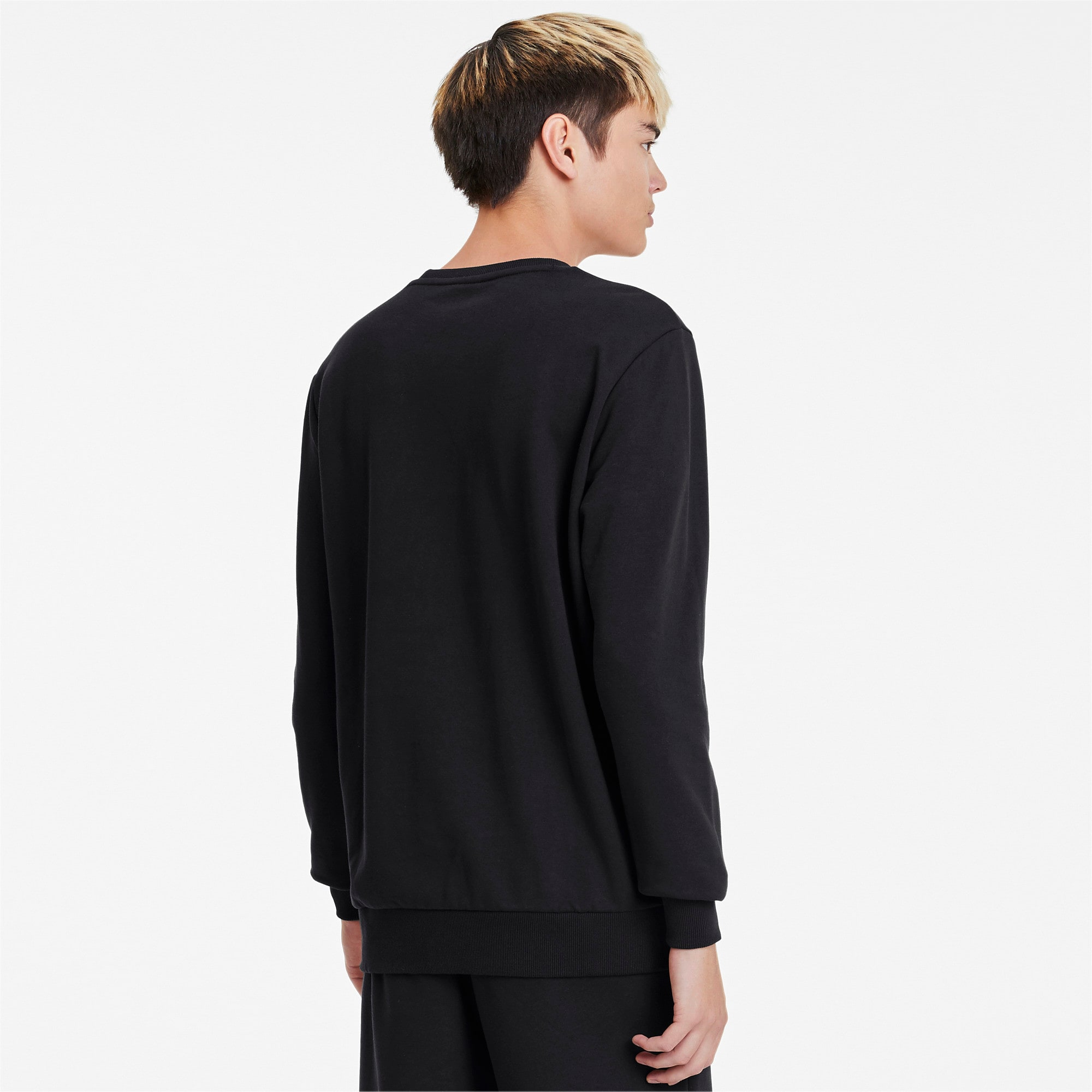 Thumbnail 3 of Classics Logo Men's Crewneck Sweatshirt, Puma Black, medium