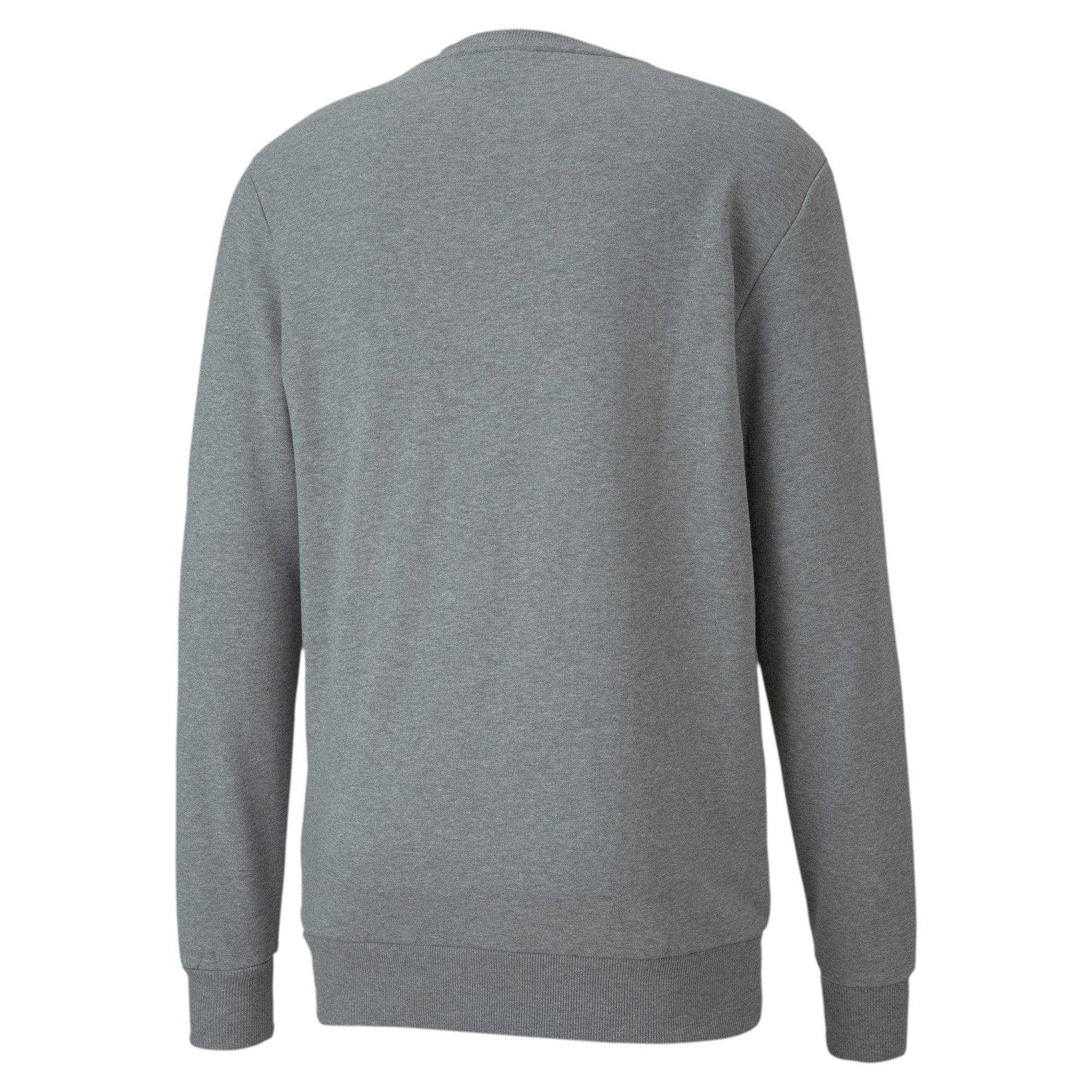 Thumbnail 5 of Classics Logo Men's Crewneck Sweatshirt, Medium Gray Heather, medium