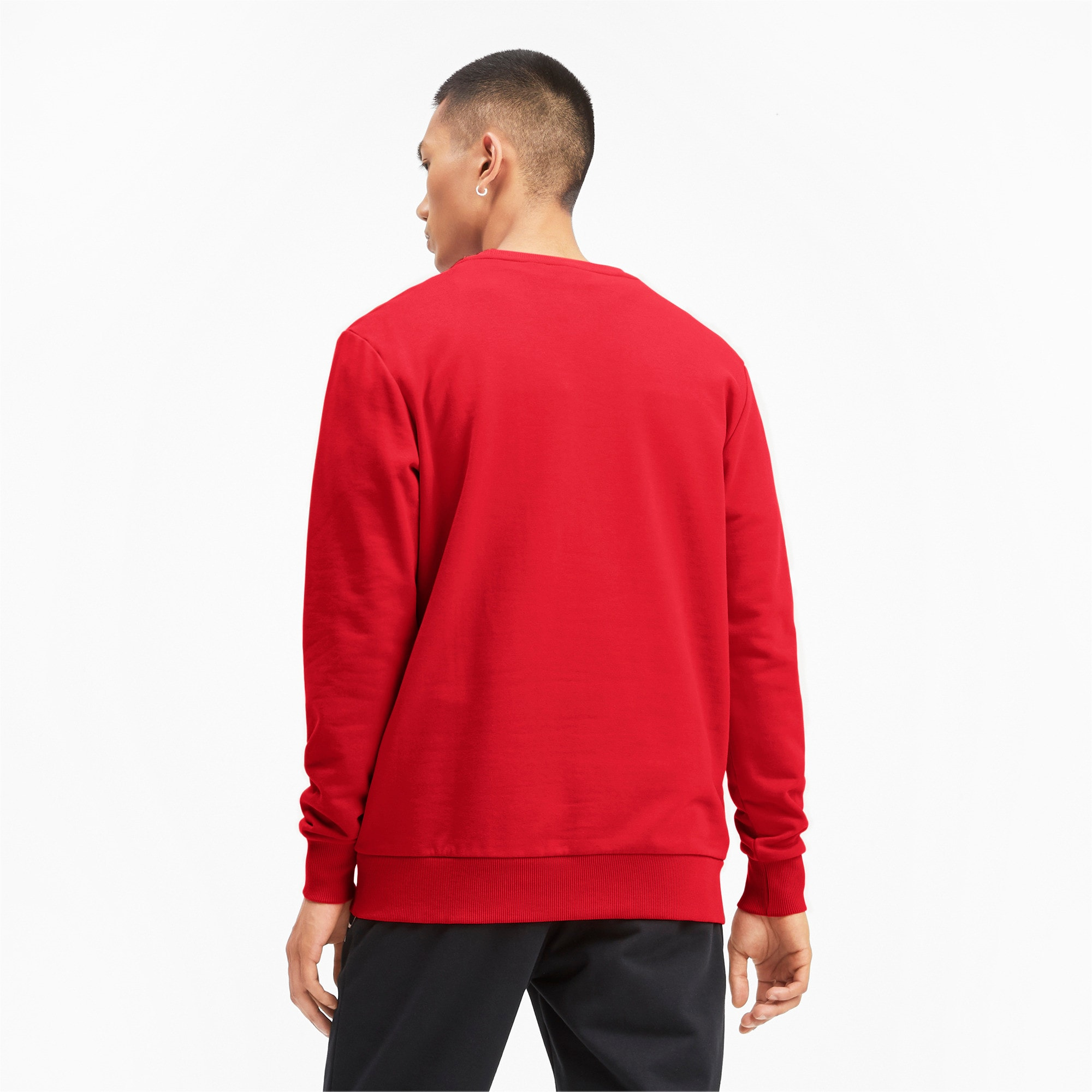 Thumbnail 3 of Classics Logo Men's Crewneck Sweatshirt, High Risk Red--logo combo, medium