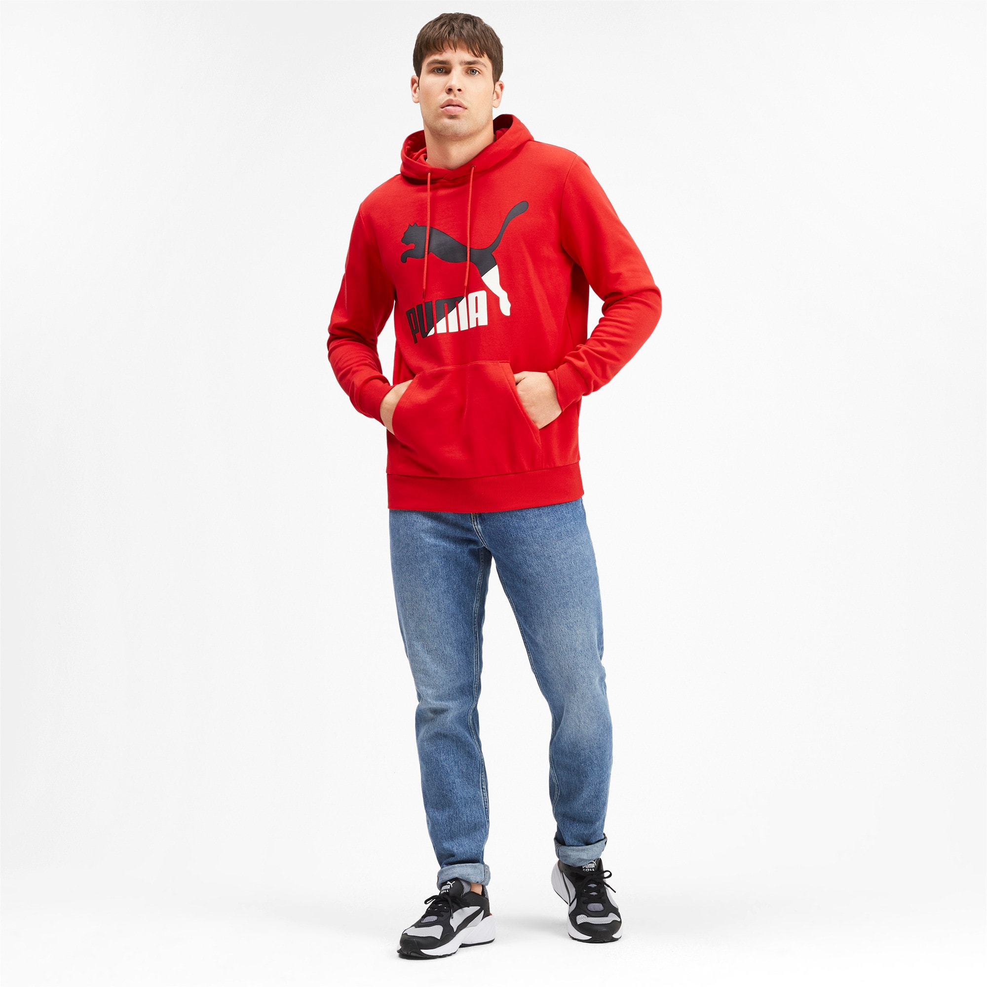 Thumbnail 4 of Classics Men's Logo Hoodie, High Risk Red--logo combo, medium