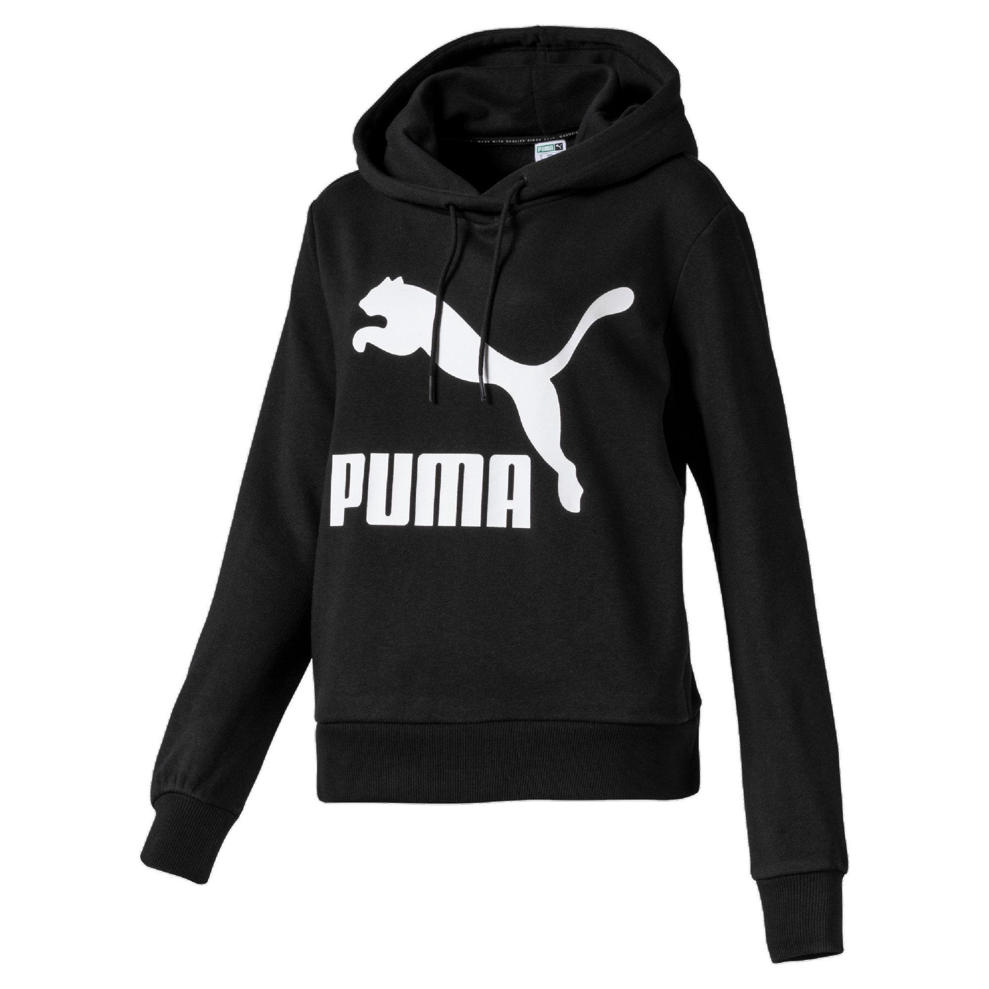 Thumbnail 1 of Classics Logo Women's Hoodie, Puma Black, medium