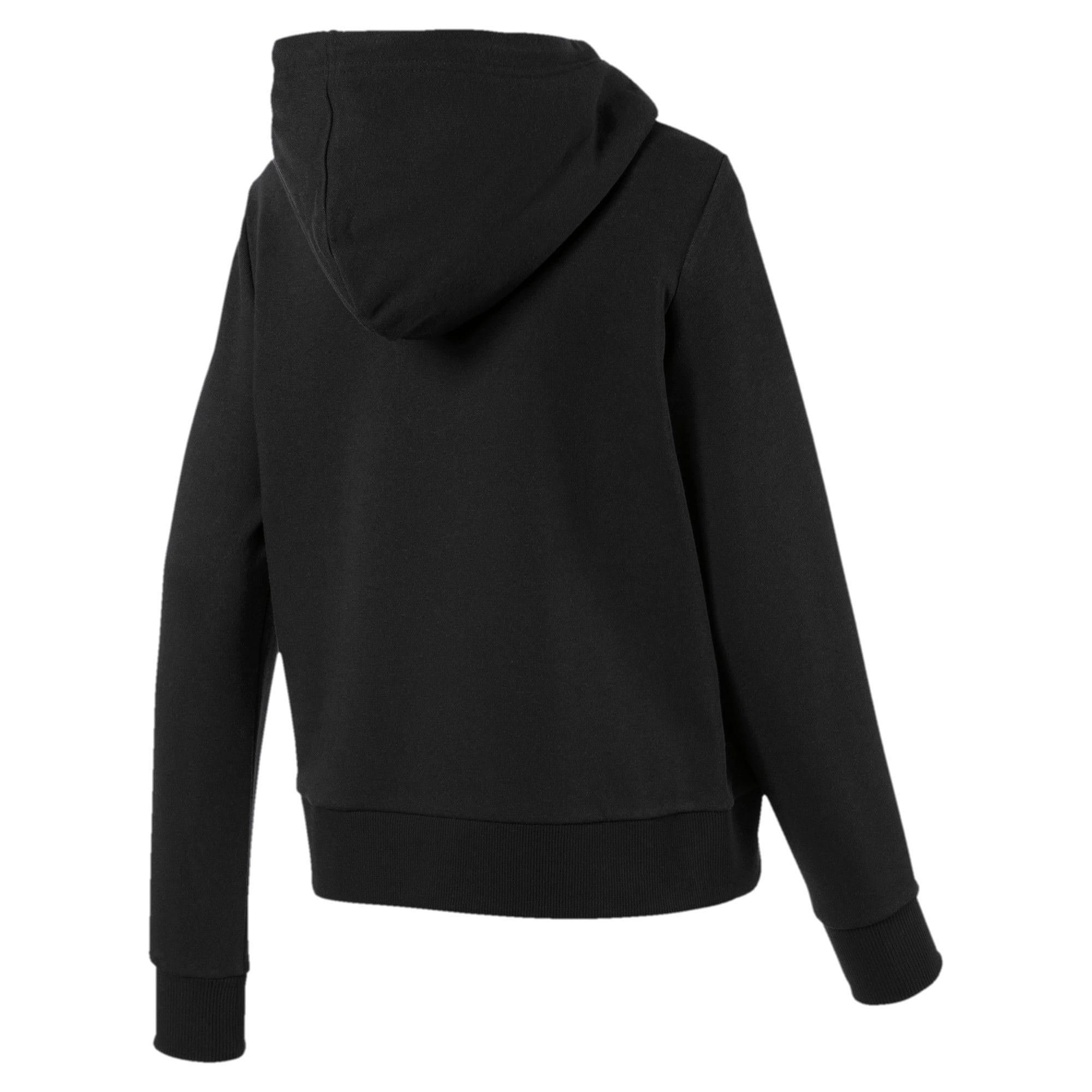 Thumbnail 5 of Classics Logo Women's Hoodie, Puma Black, medium