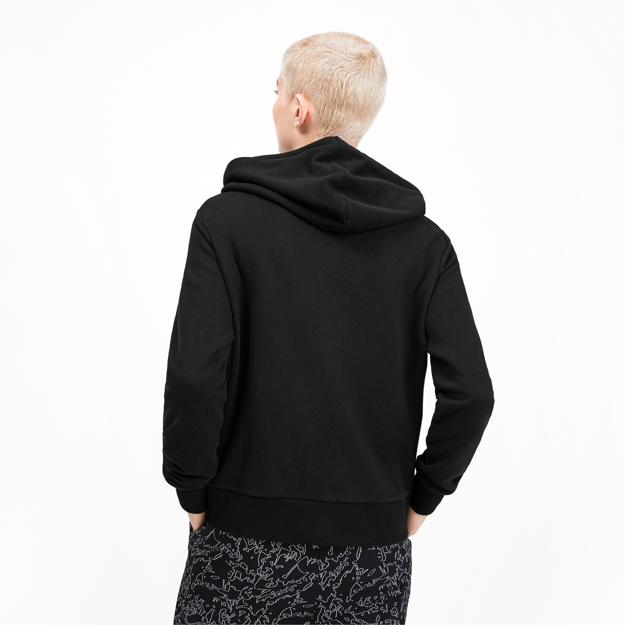 Thumbnail 3 of Classics Logo Women's Hoodie, Puma Black, medium