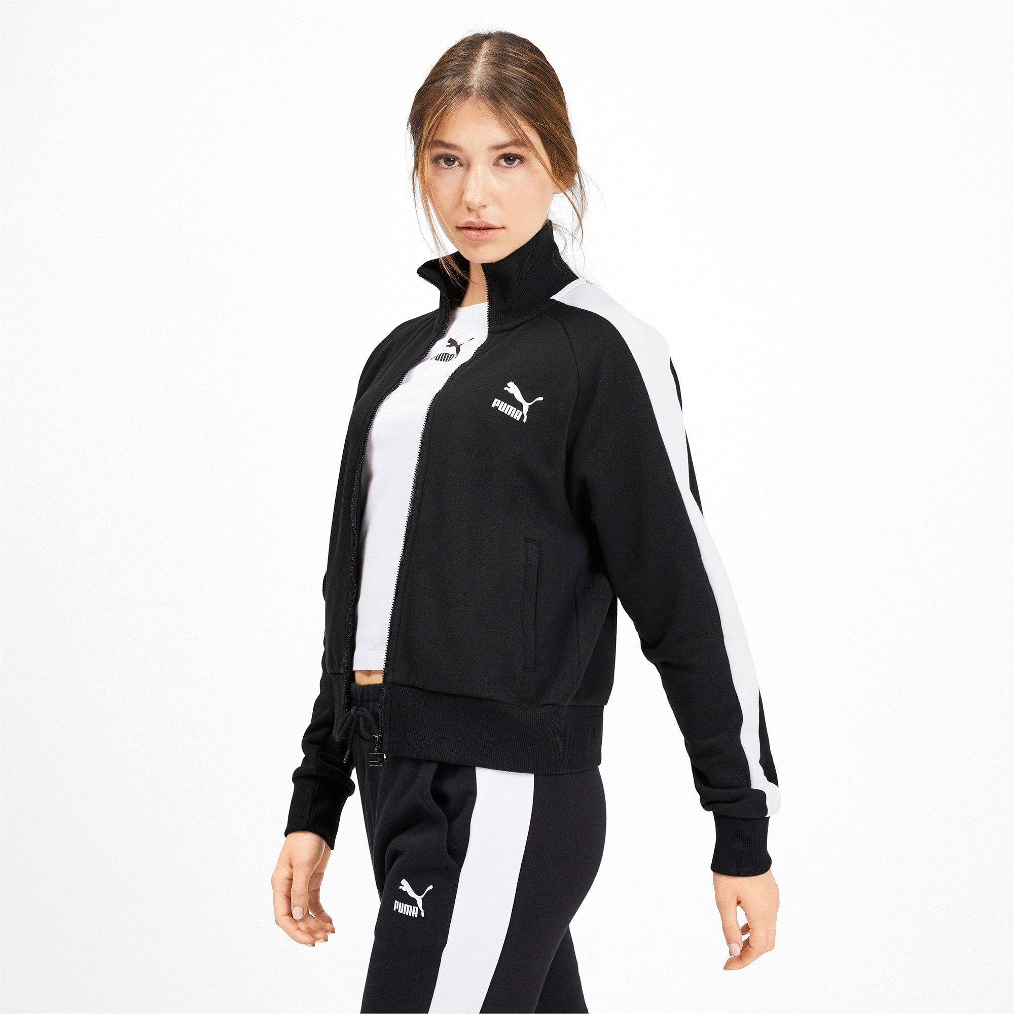 Thumbnail 2 of Classics T7 Women's Track Jacket, Puma Black, medium